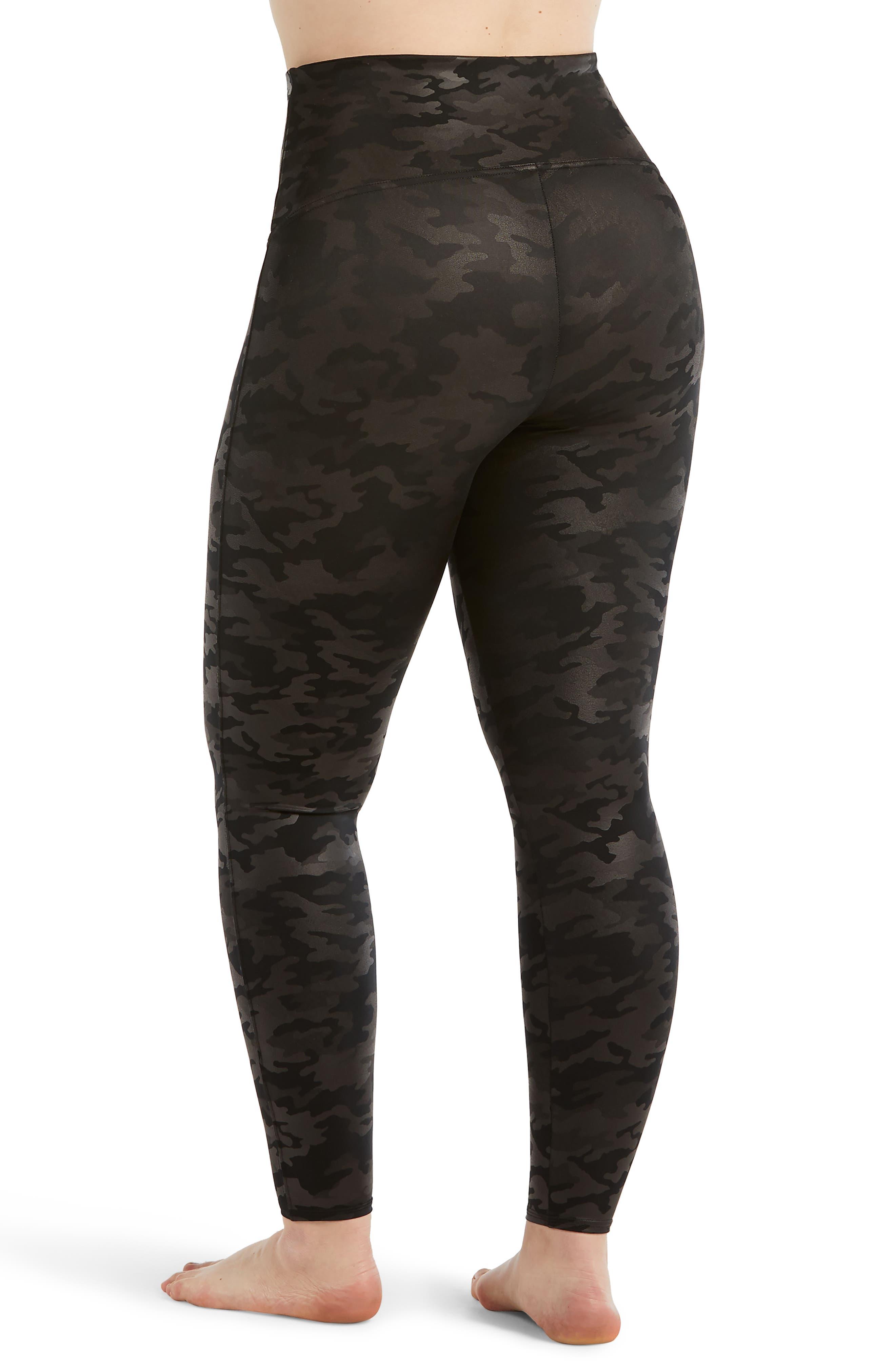 Camo Faux Leather Leggings,                             Alternate thumbnail 2, color,                             MATTE BLACK CAMO