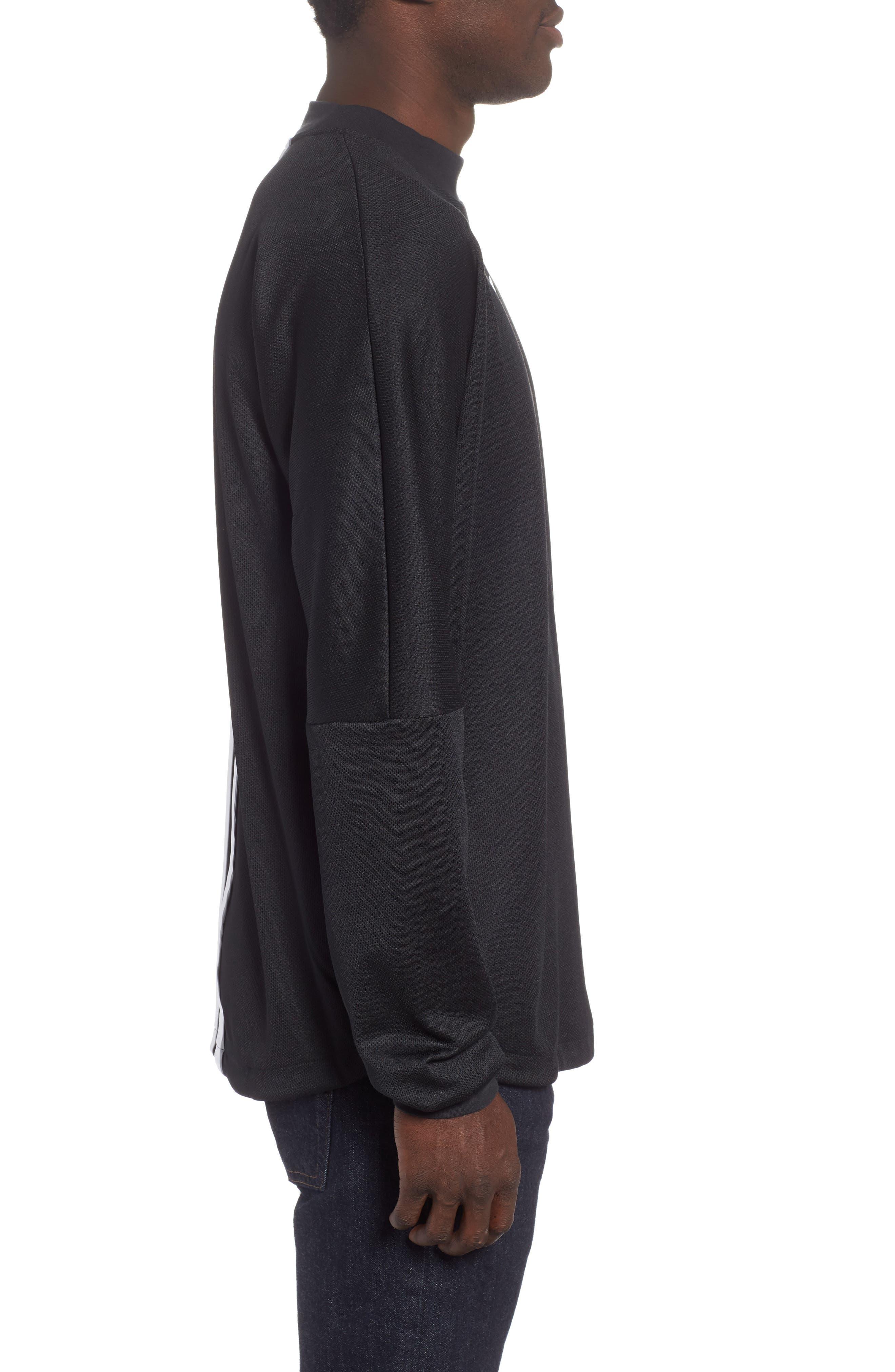 Authentics Long Sleeve Goalie Shirt,                             Alternate thumbnail 3, color,                             BLACK/ WHITE