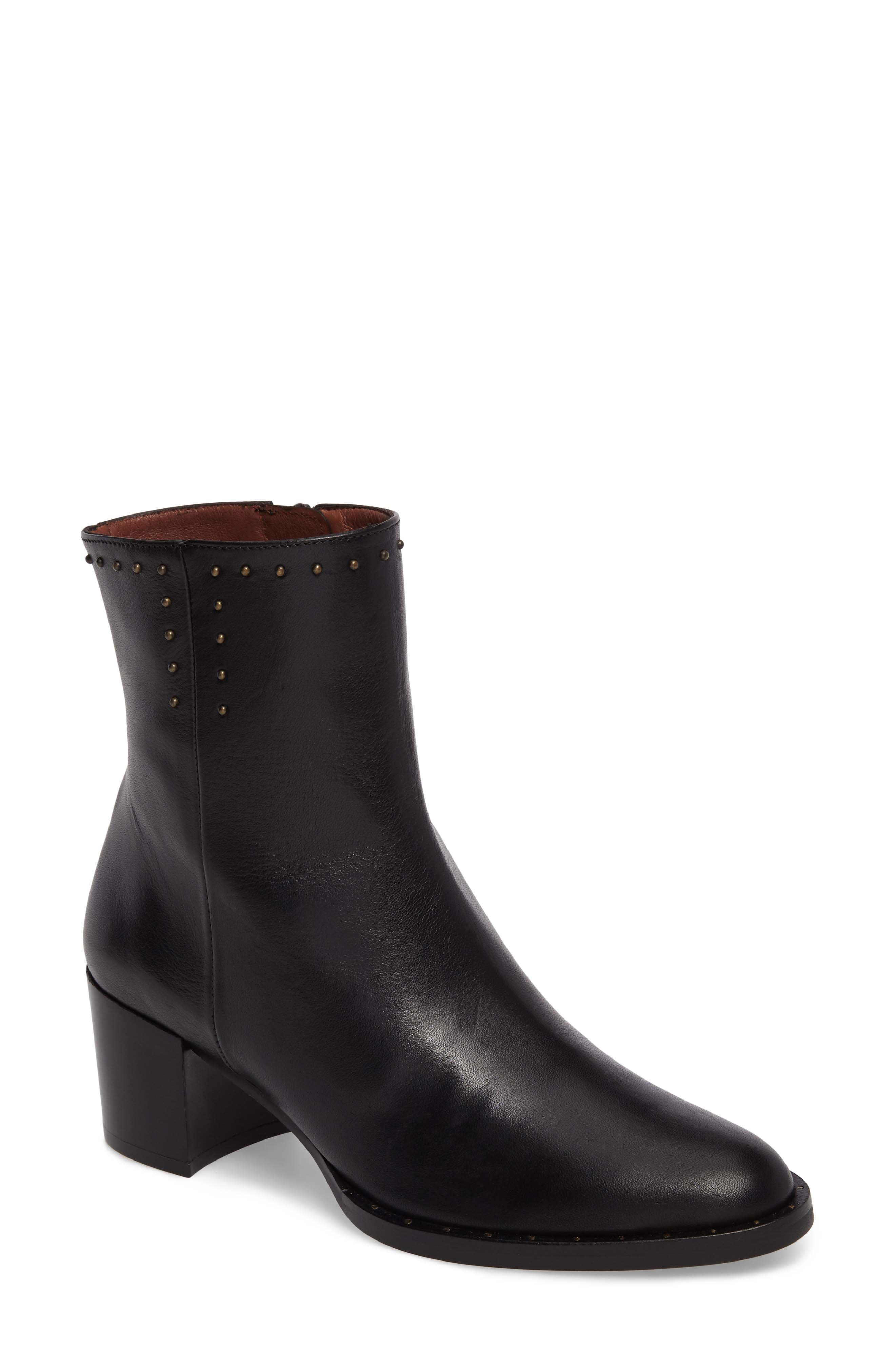Dawn Bootie,                         Main,                         color, SOHO BLACK LEATHER