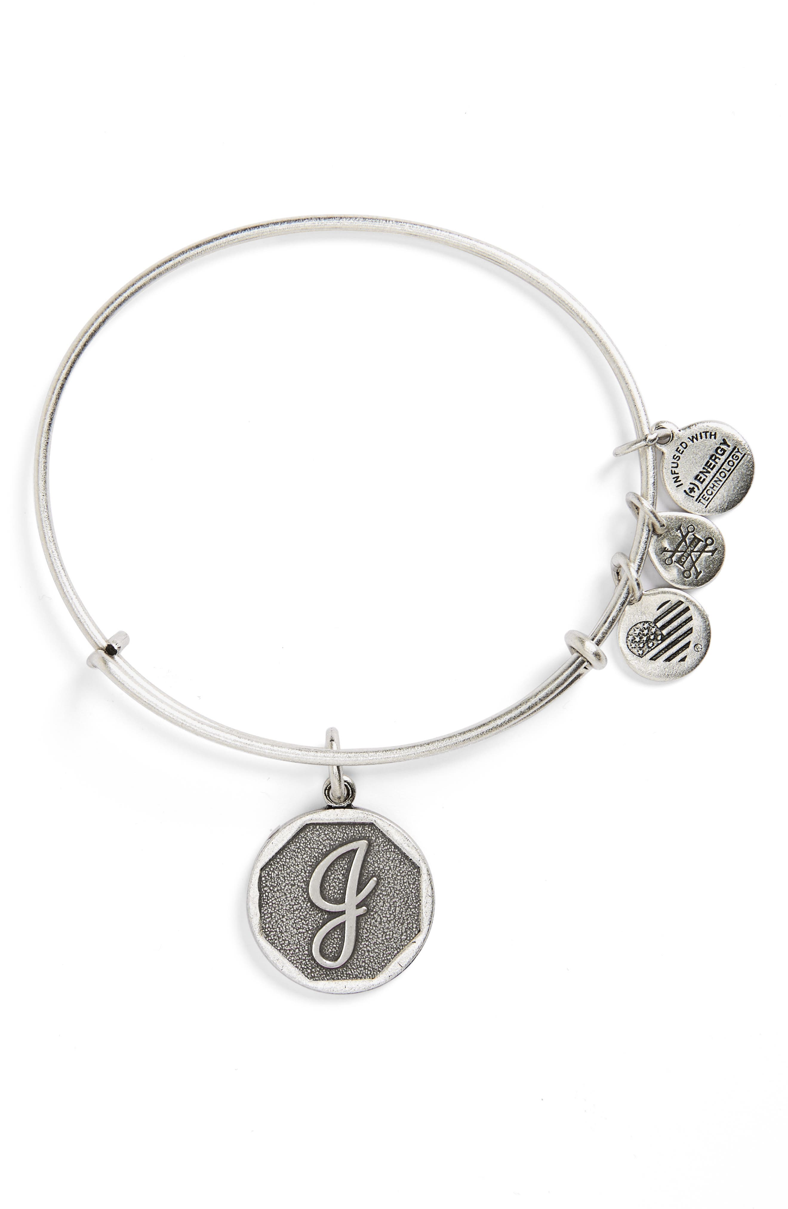 'Initial' Adjustable Wire Bangle,                             Alternate thumbnail 37, color,