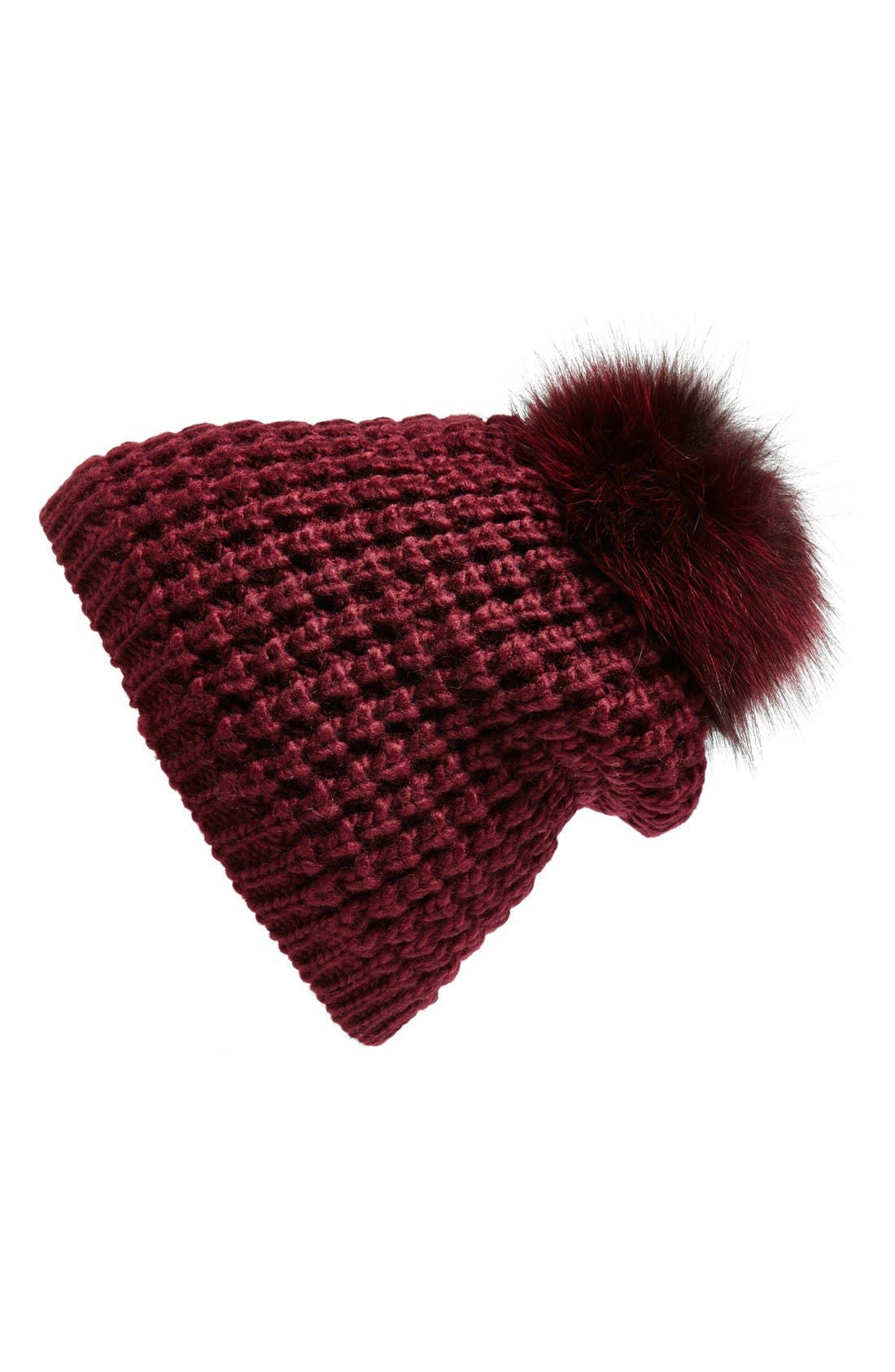Genuine Fox Pompom Hat,                             Main thumbnail 14, color,