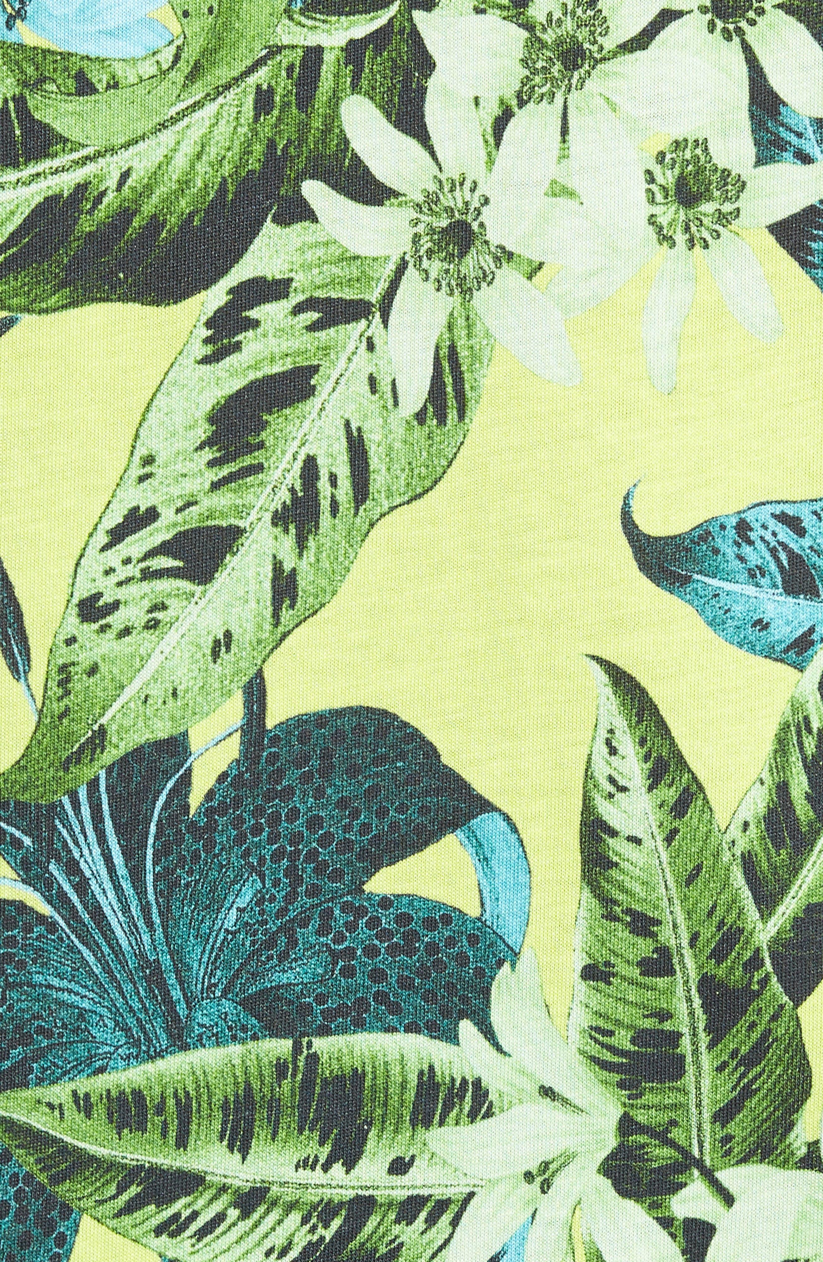 Classic Floral Shirt,                             Alternate thumbnail 5, color,                             GREEN