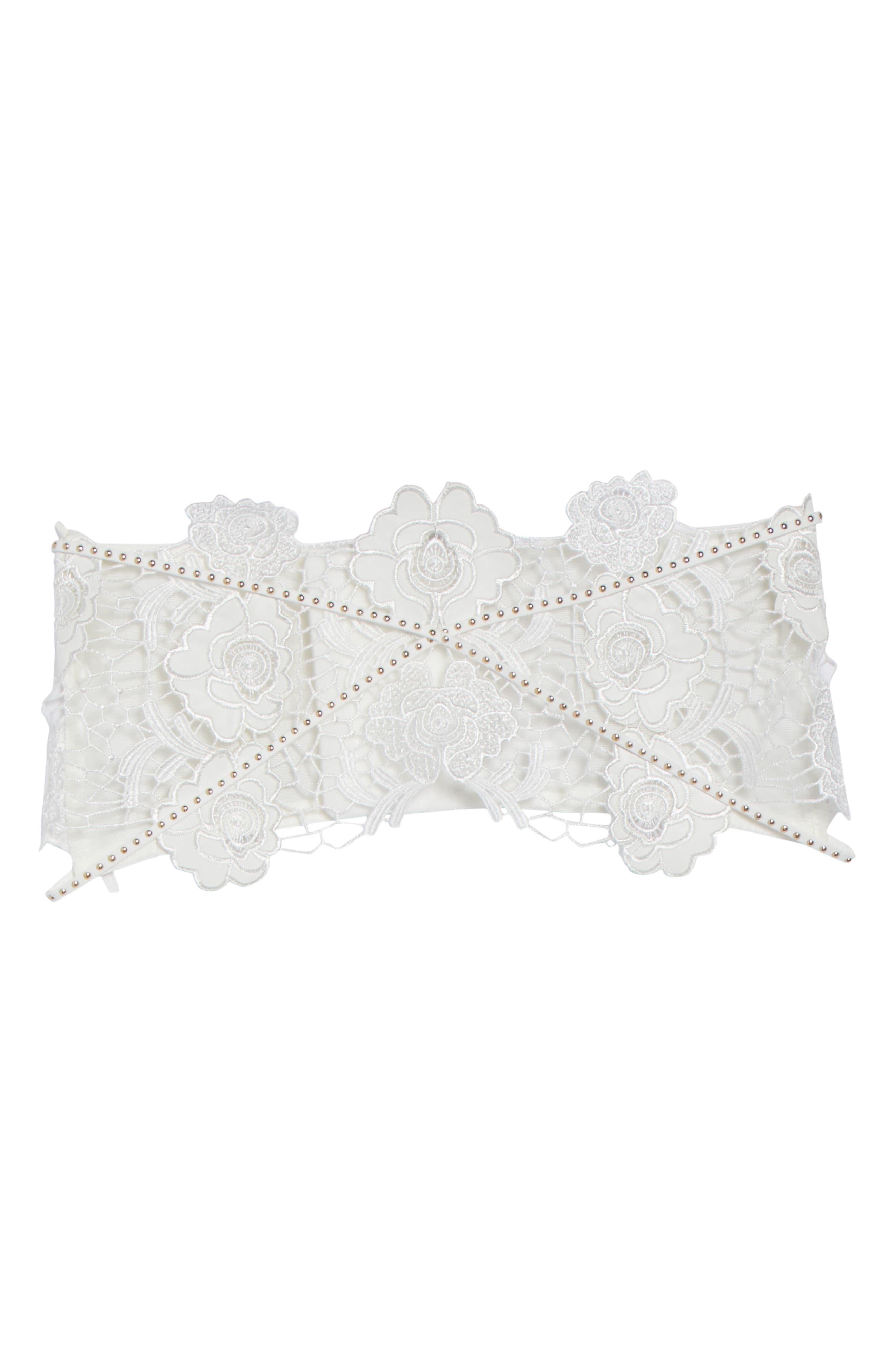 Tamara White Corset Belt,                             Main thumbnail 1, color,                             900