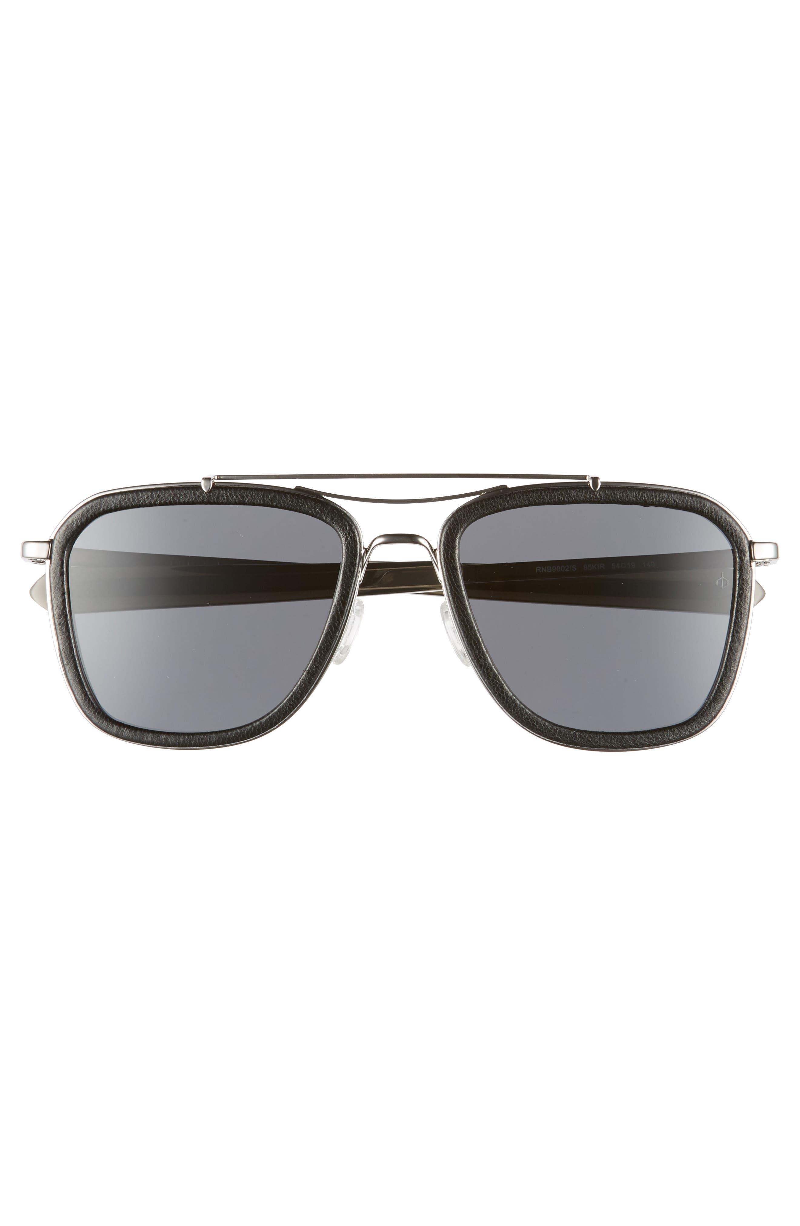 Phantom 54mm Aviator Sunglasses,                             Alternate thumbnail 3, color,                             RUTHENIUM/ BLACK