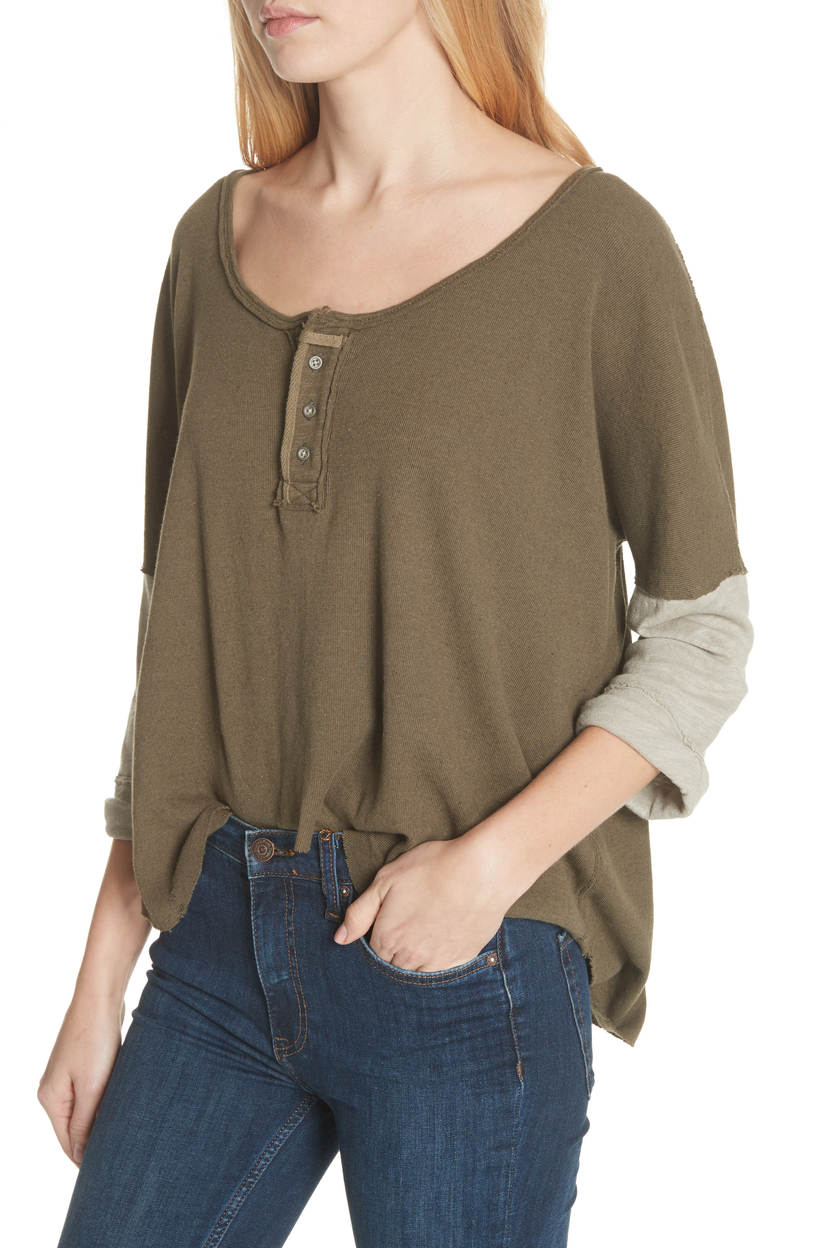 We the Free Star Henley Top,                             Alternate thumbnail 4, color,                             352