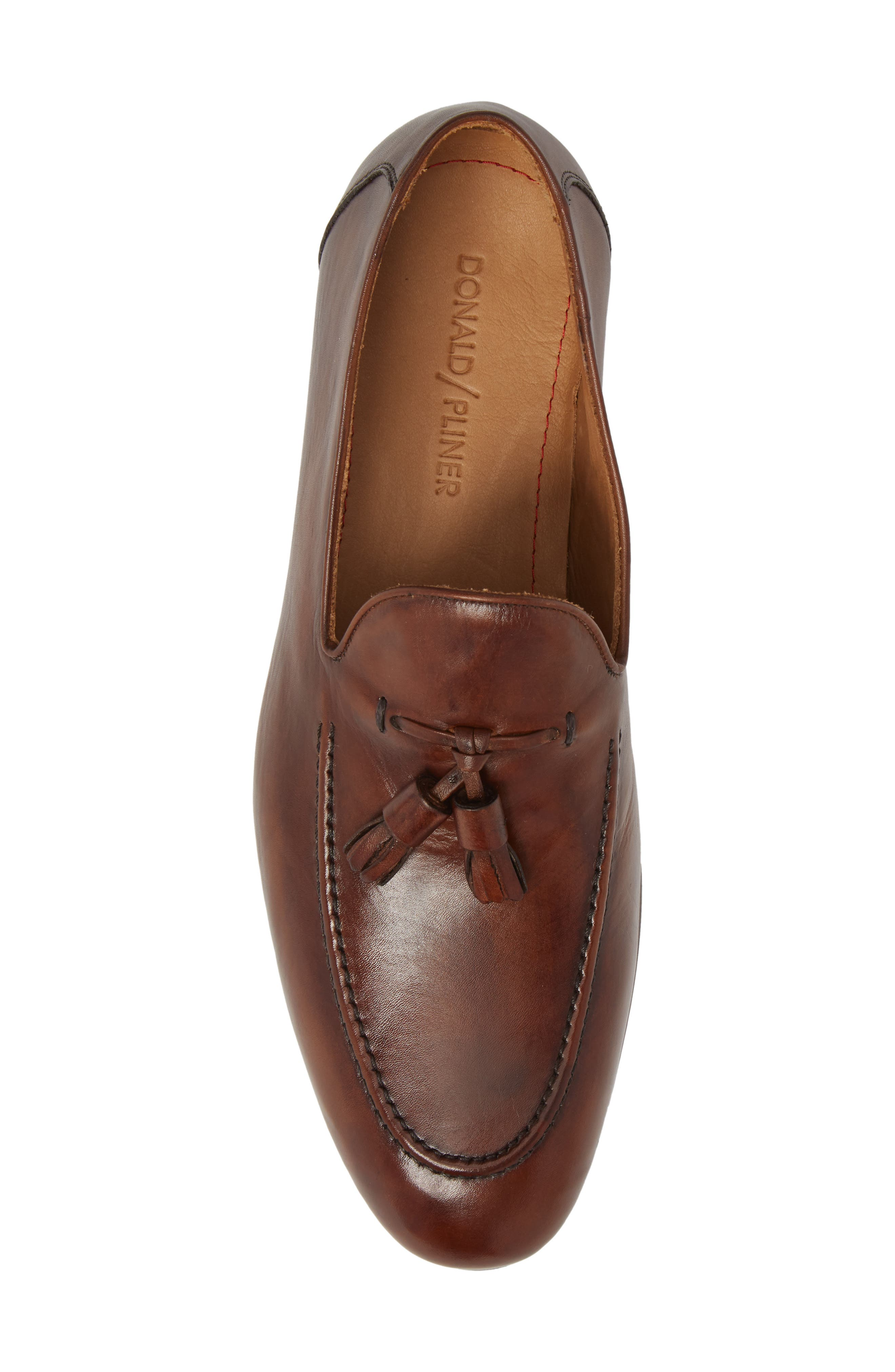 Ario Tassel Loafer,                             Alternate thumbnail 5, color,                             BROWN LEATHER