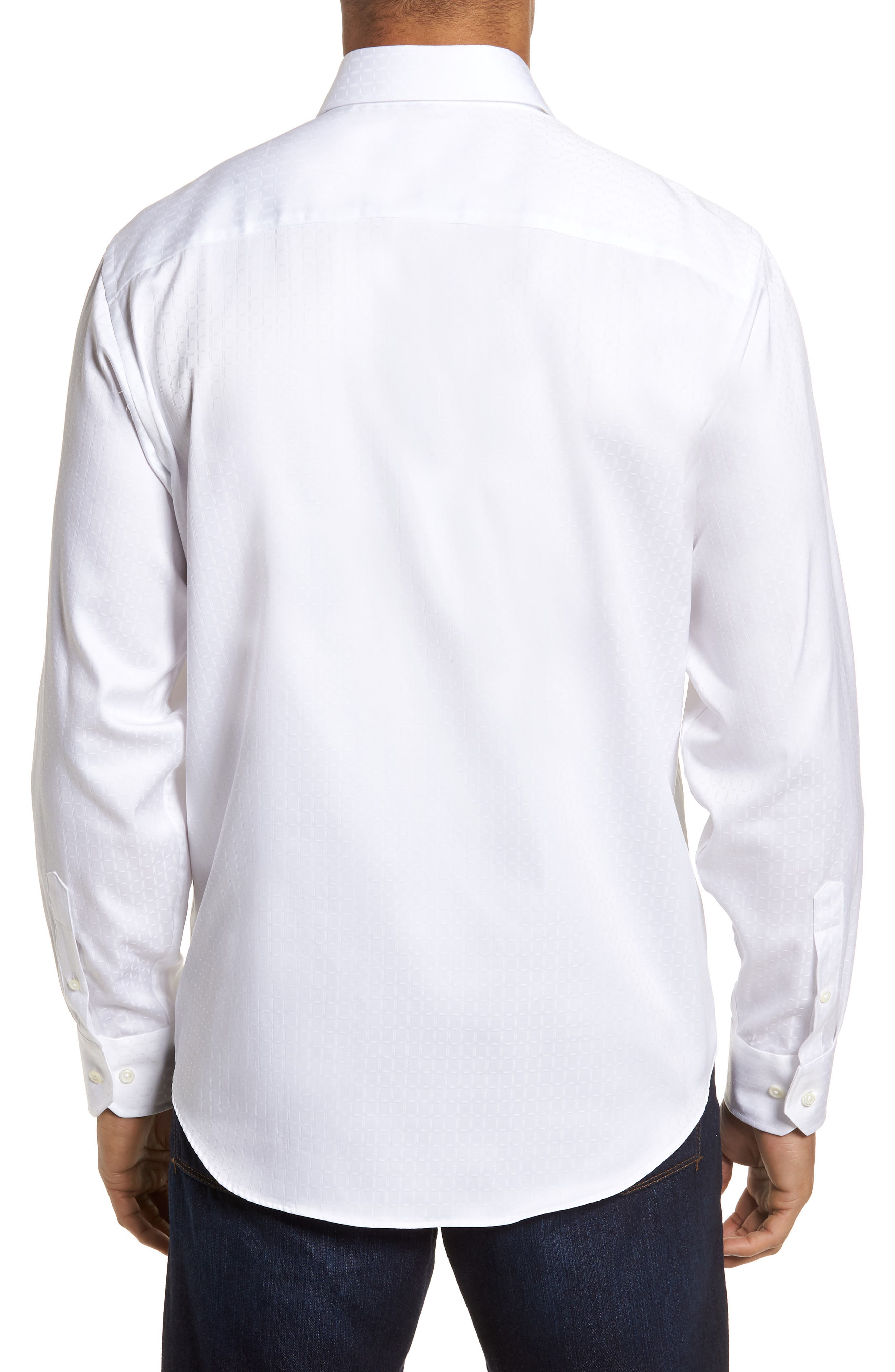 Classic Fit Woven Sport Shirt,                             Alternate thumbnail 2, color,                             WHITE