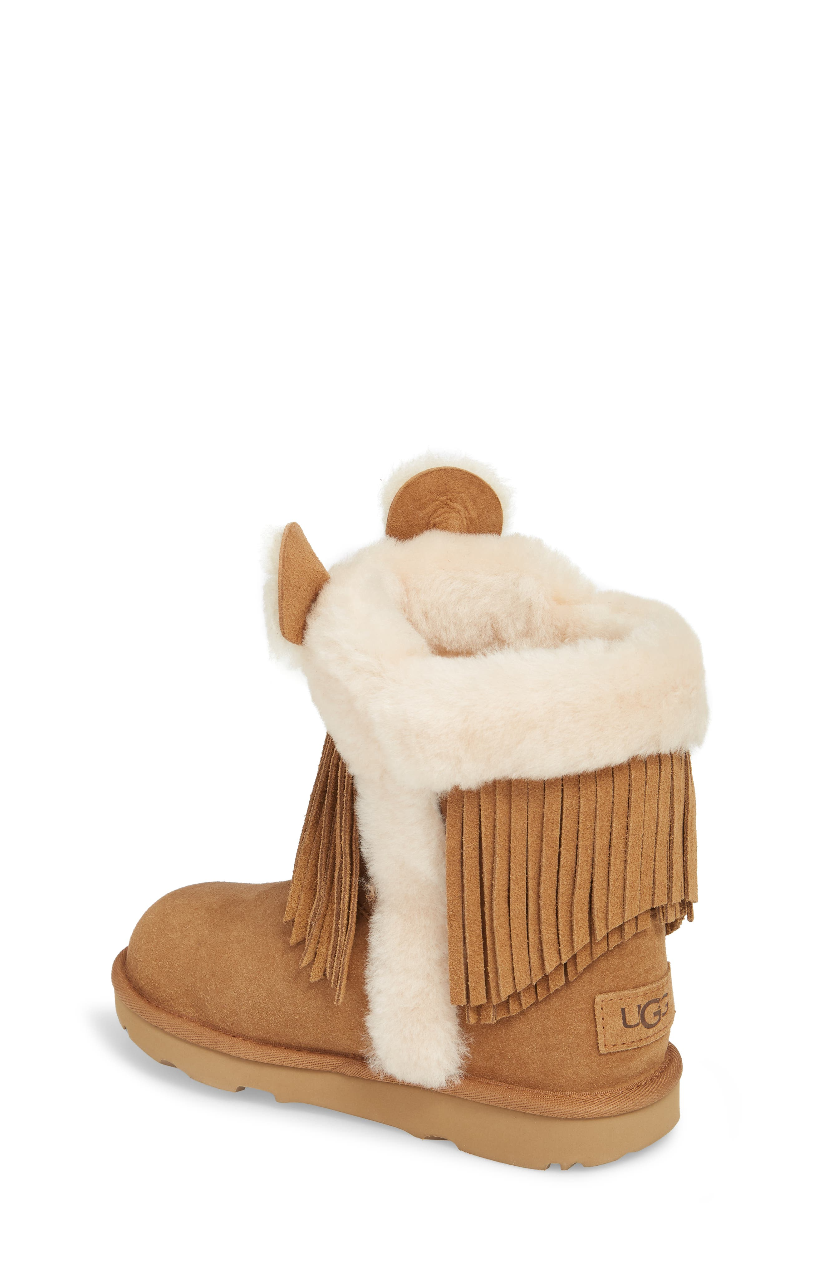 Darlala Classic II Genuine Shearling Boot,                             Alternate thumbnail 2, color,                             CHESTNUT