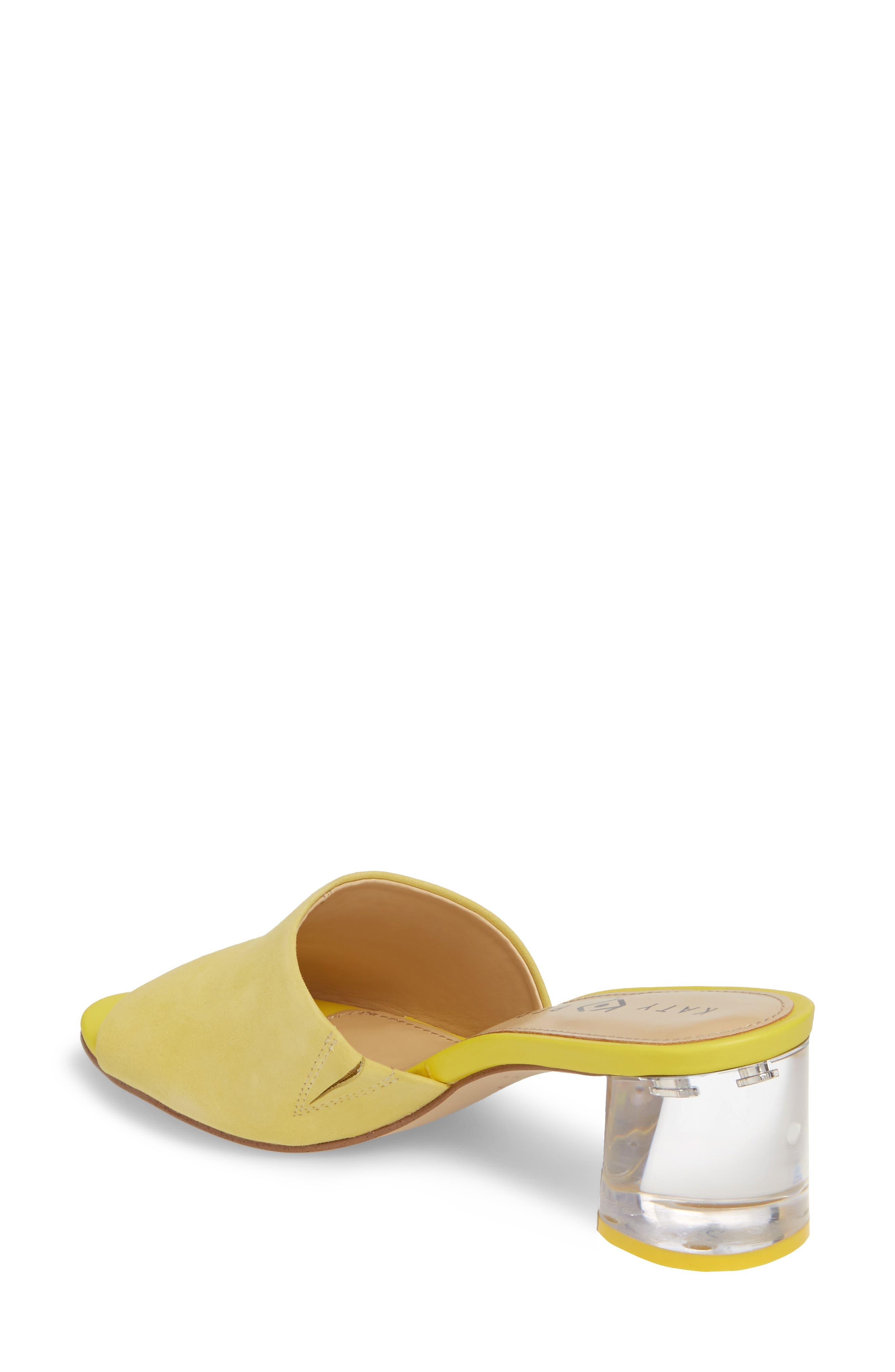 The Kaitlynn Slide Sandal,                             Alternate thumbnail 2, color,                             YELLOW SUEDE