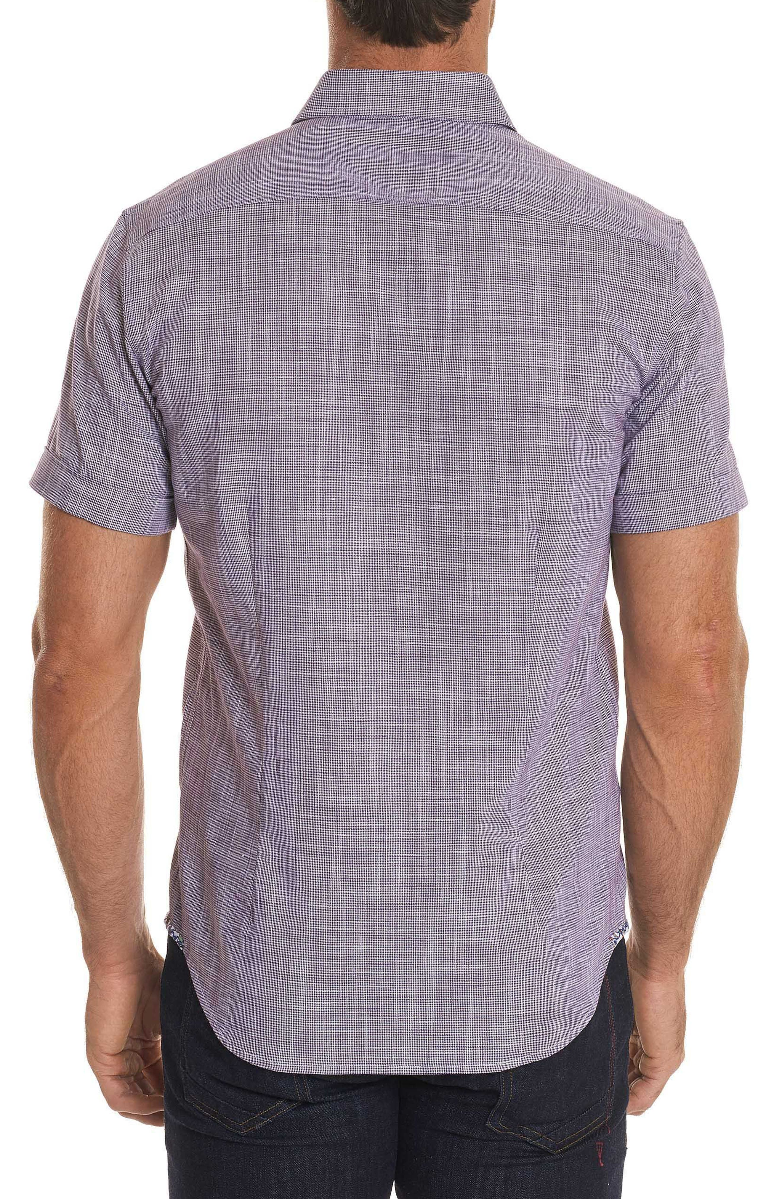 Isia Tailored Fit Sport Shirt,                             Alternate thumbnail 2, color,                             PURPLE