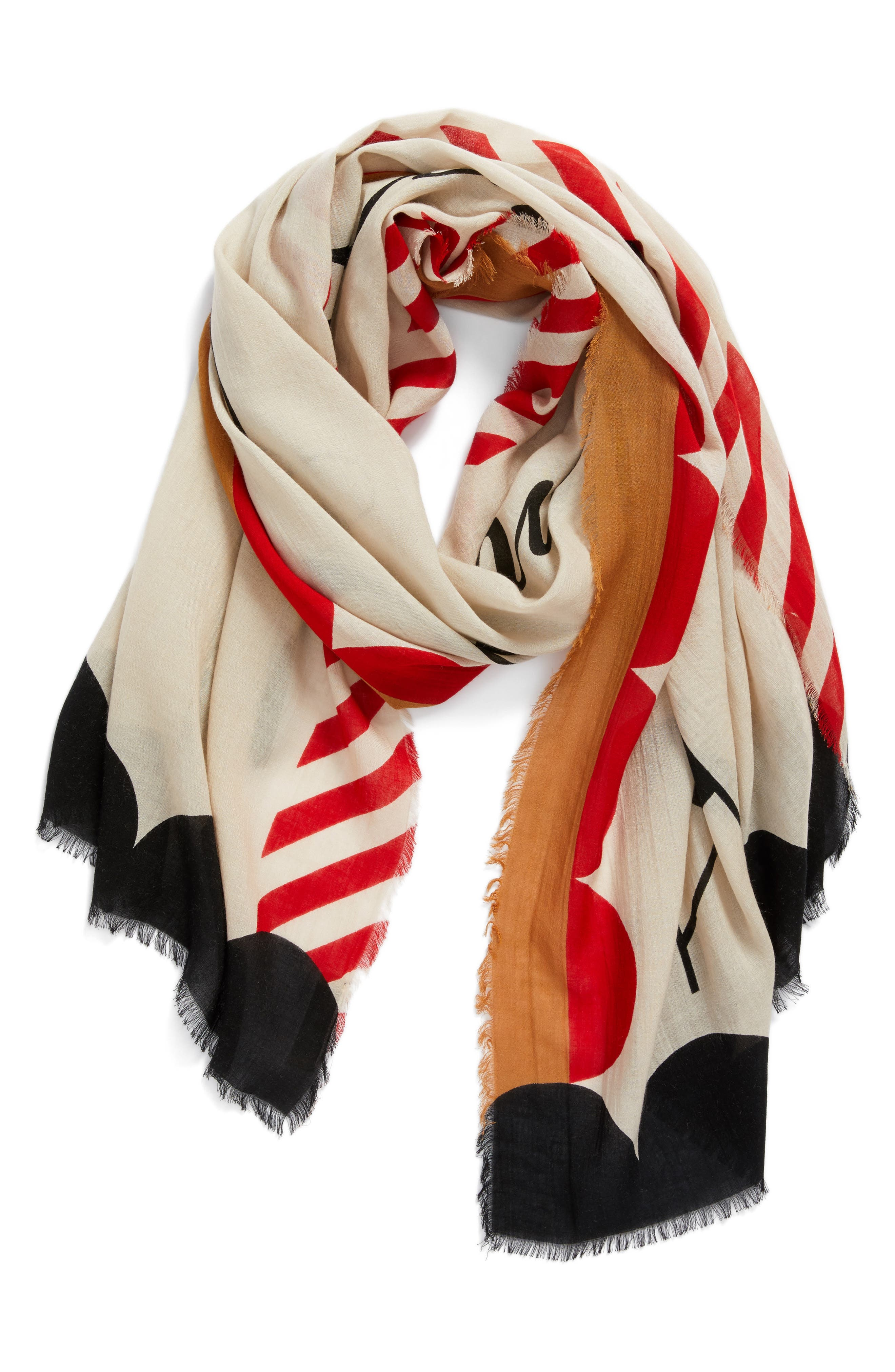 Pattern England Scarf,                             Alternate thumbnail 3, color,                             020