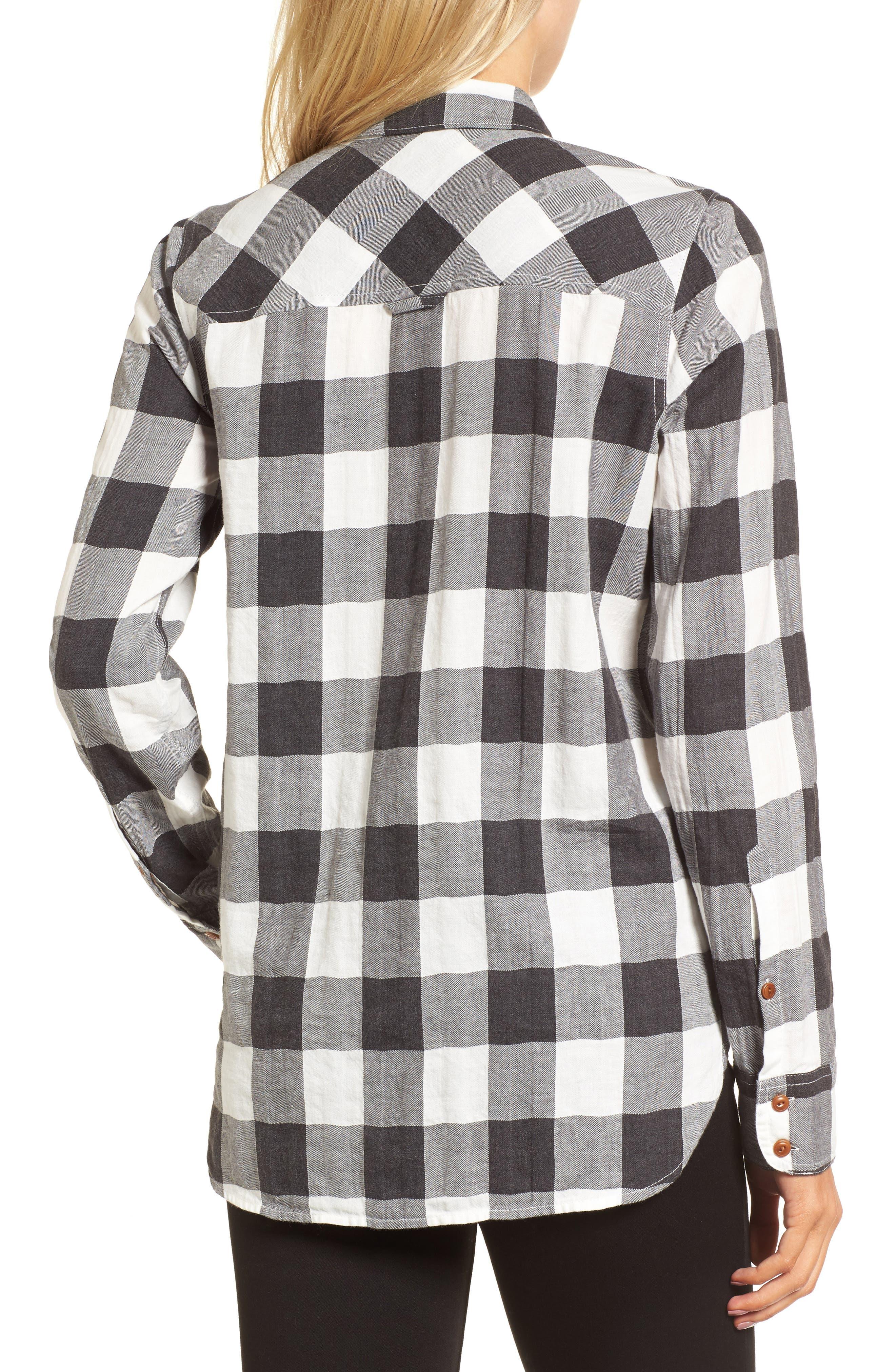 Buffalo Plaid Boy Shirt,                             Alternate thumbnail 2, color,                             090