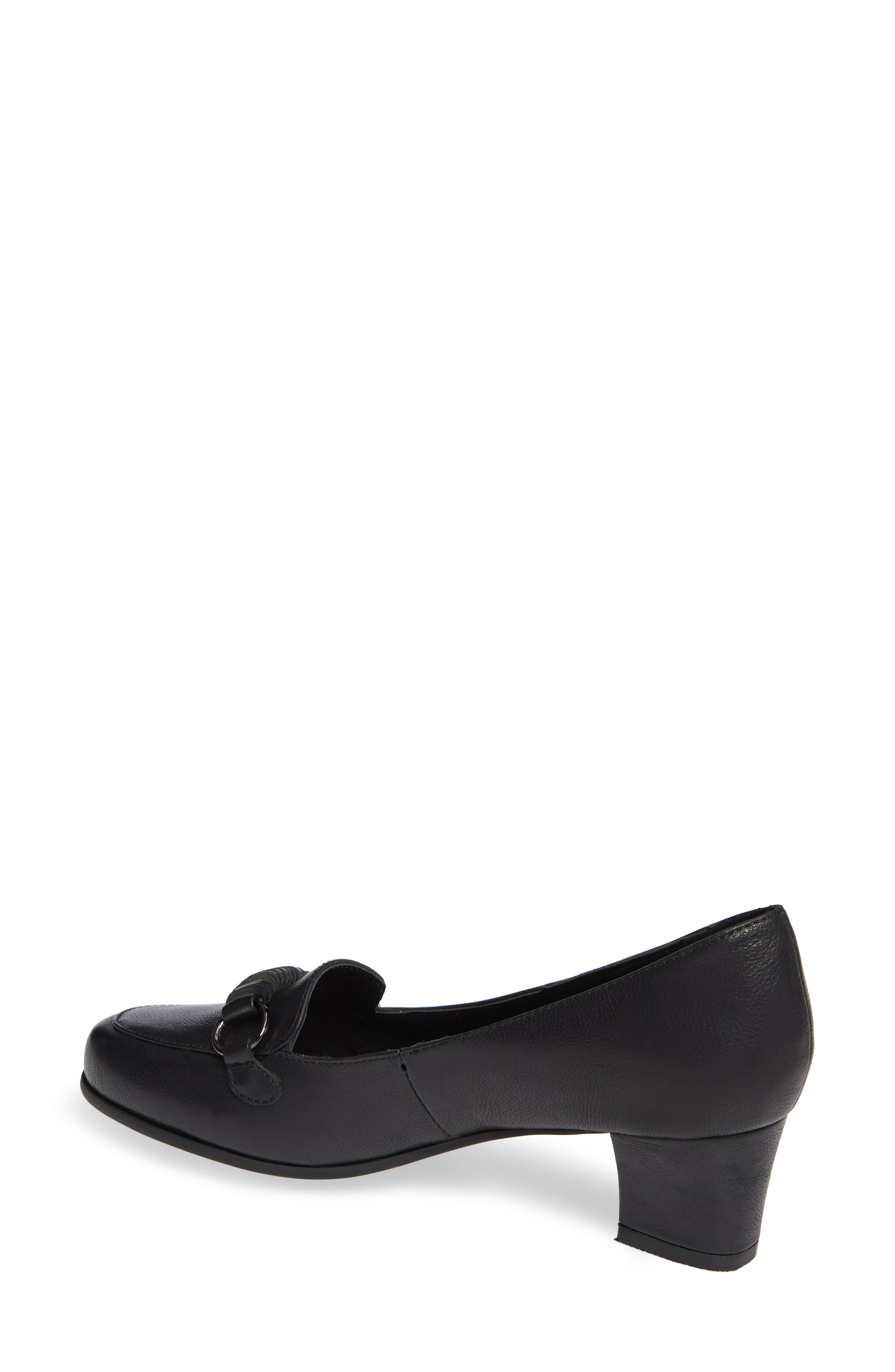 Perky Loafer Pump,                             Alternate thumbnail 2, color,                             BLACK LEATHER