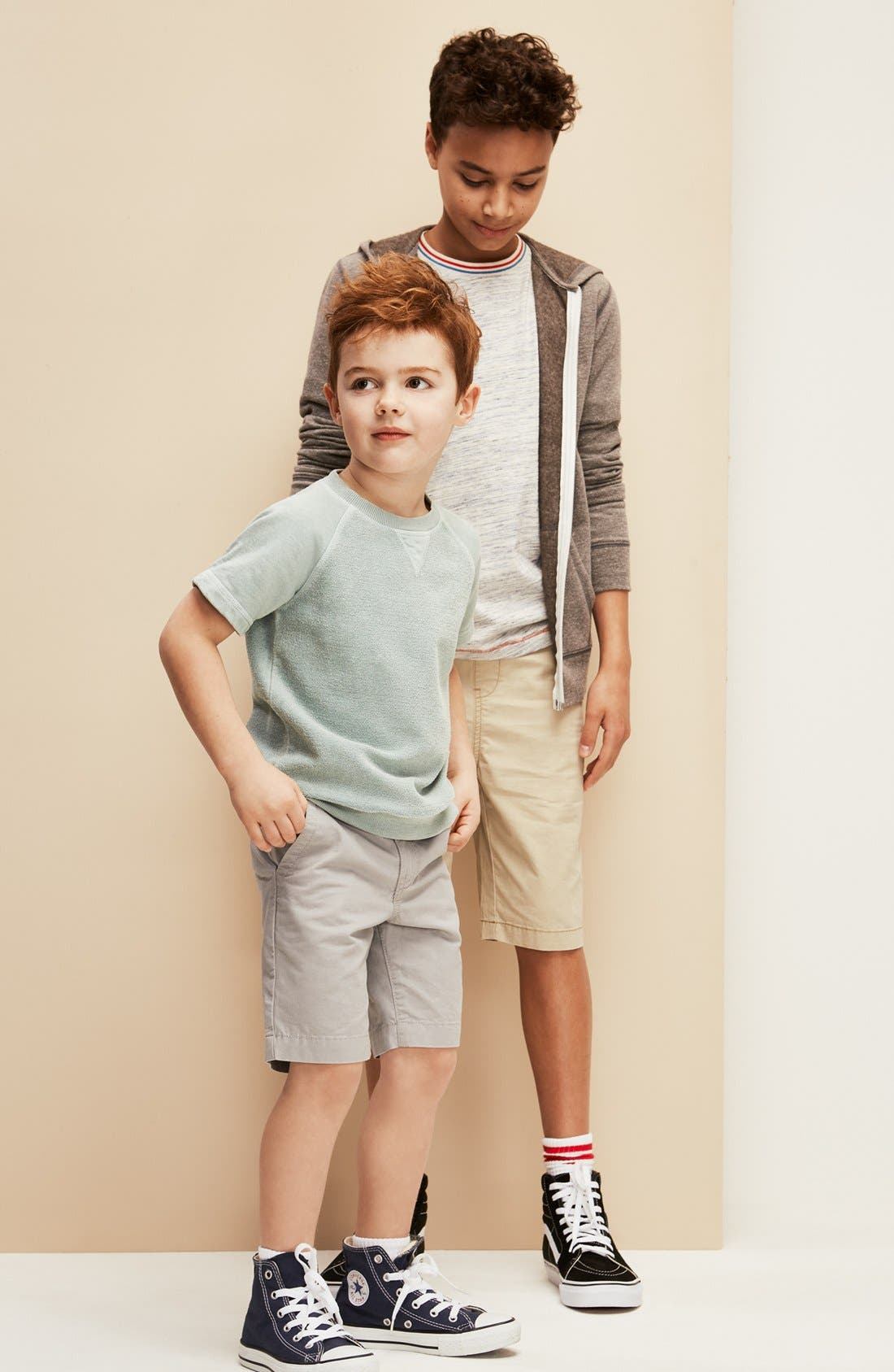 TUCKER + TATE Cotton Twill Shorts, Main, color, 001