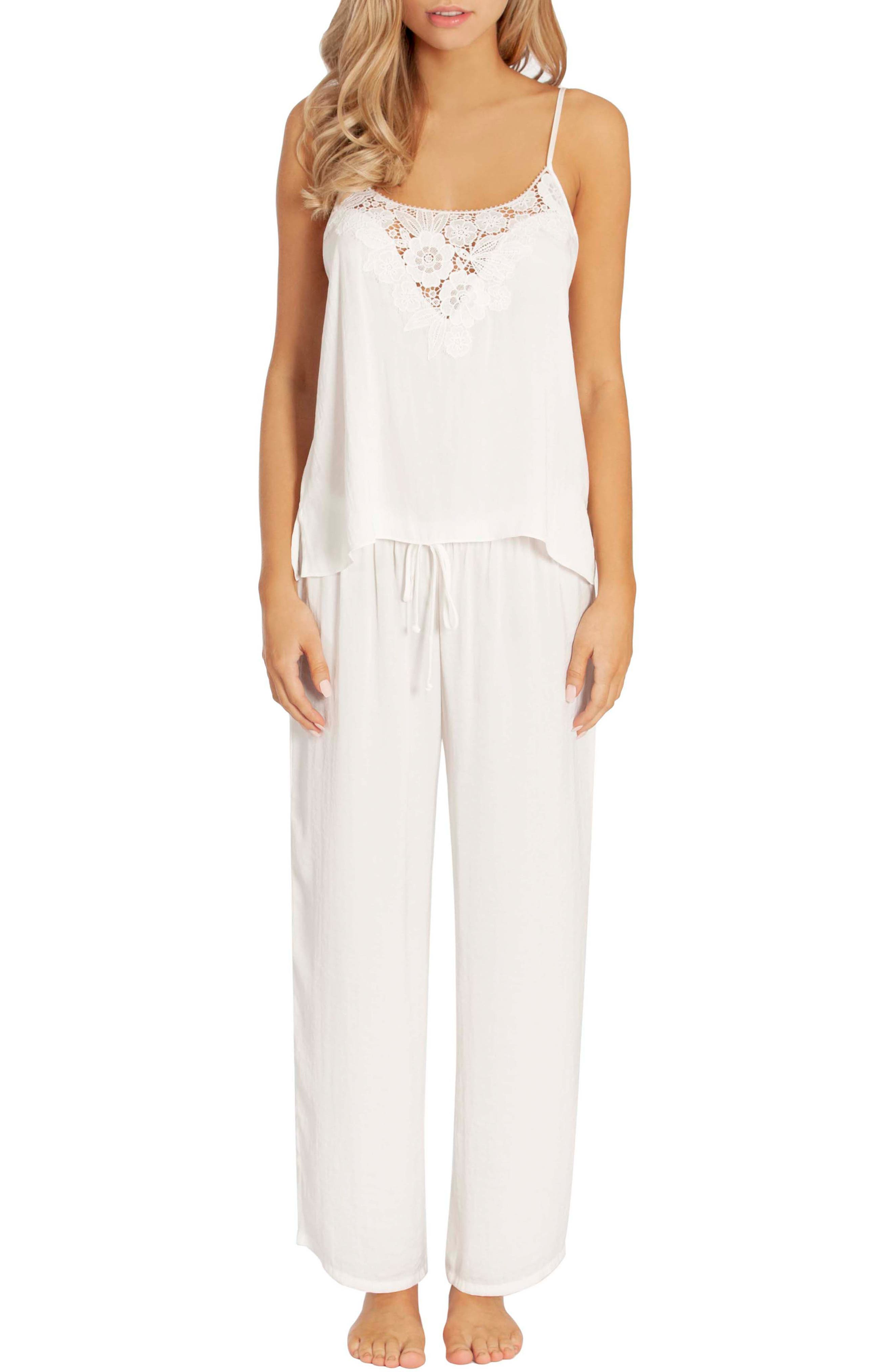 In Bloom By Jonquil Washed Satin Pajamas, Ivory