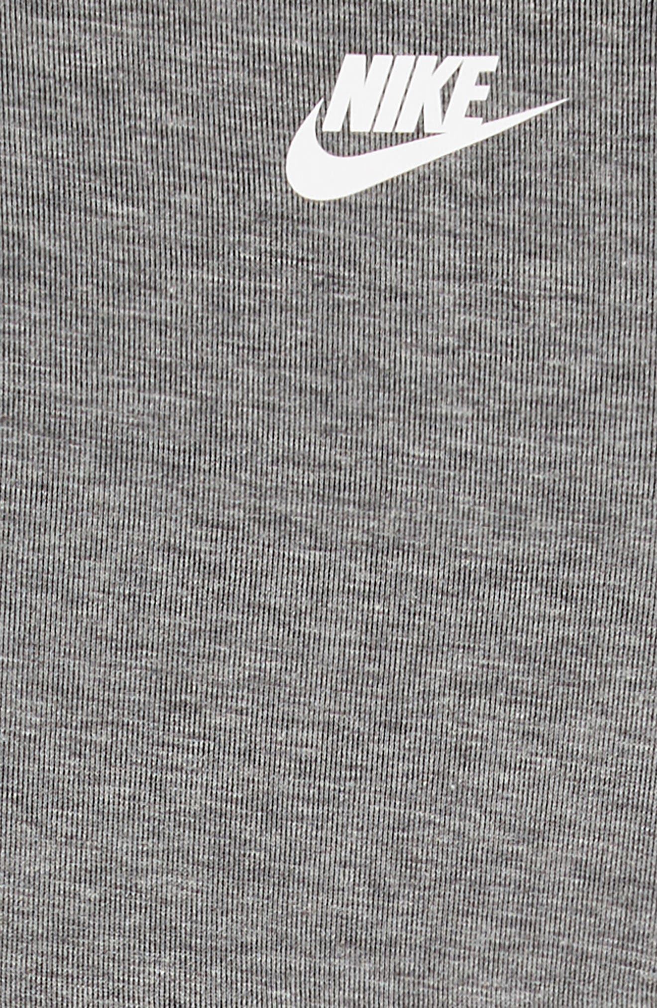 Tech Fleece Dress,                             Alternate thumbnail 3, color,                             CARBON HEATHER