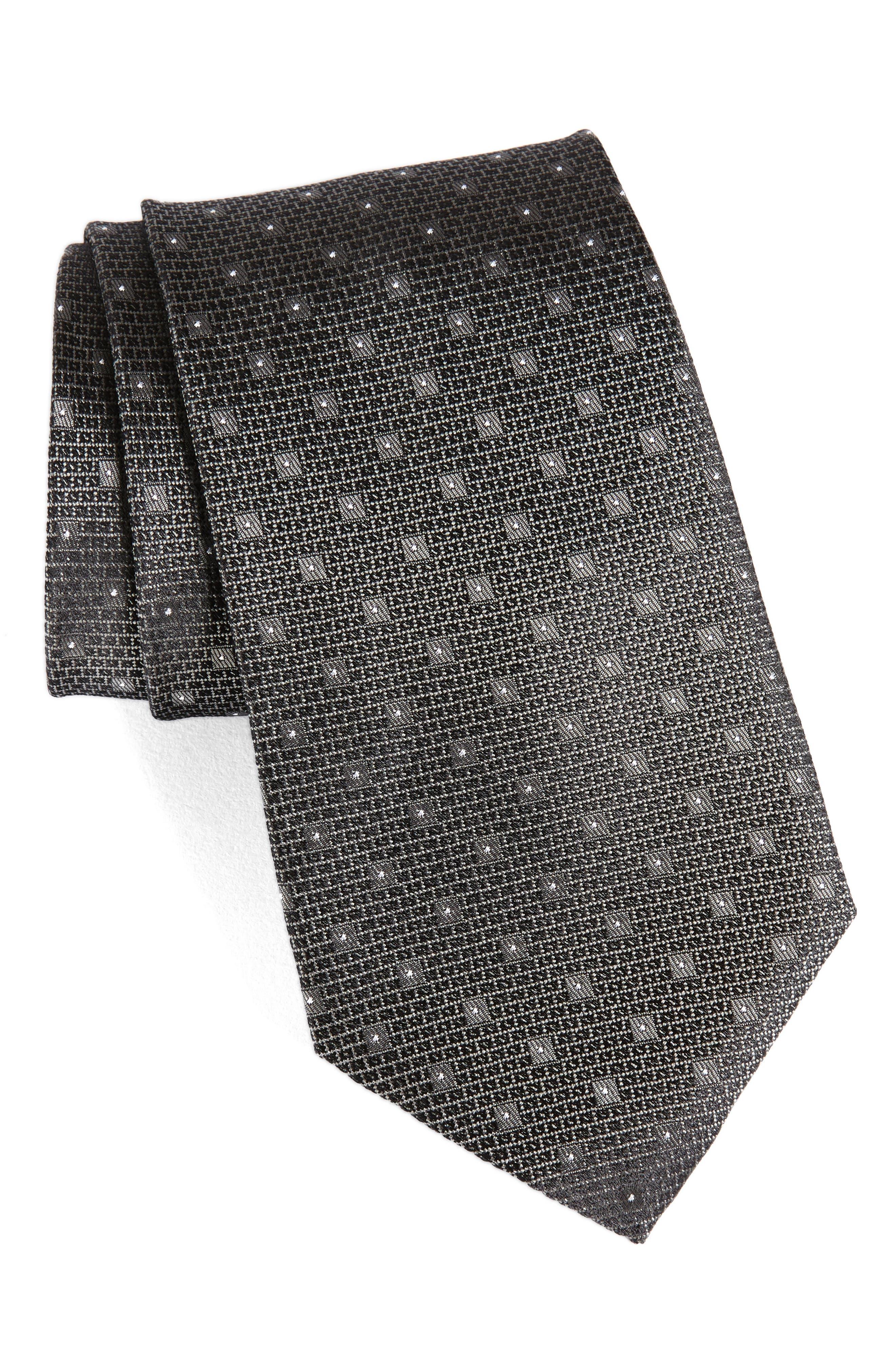 Dot Silk Tie,                             Main thumbnail 1, color,                             061