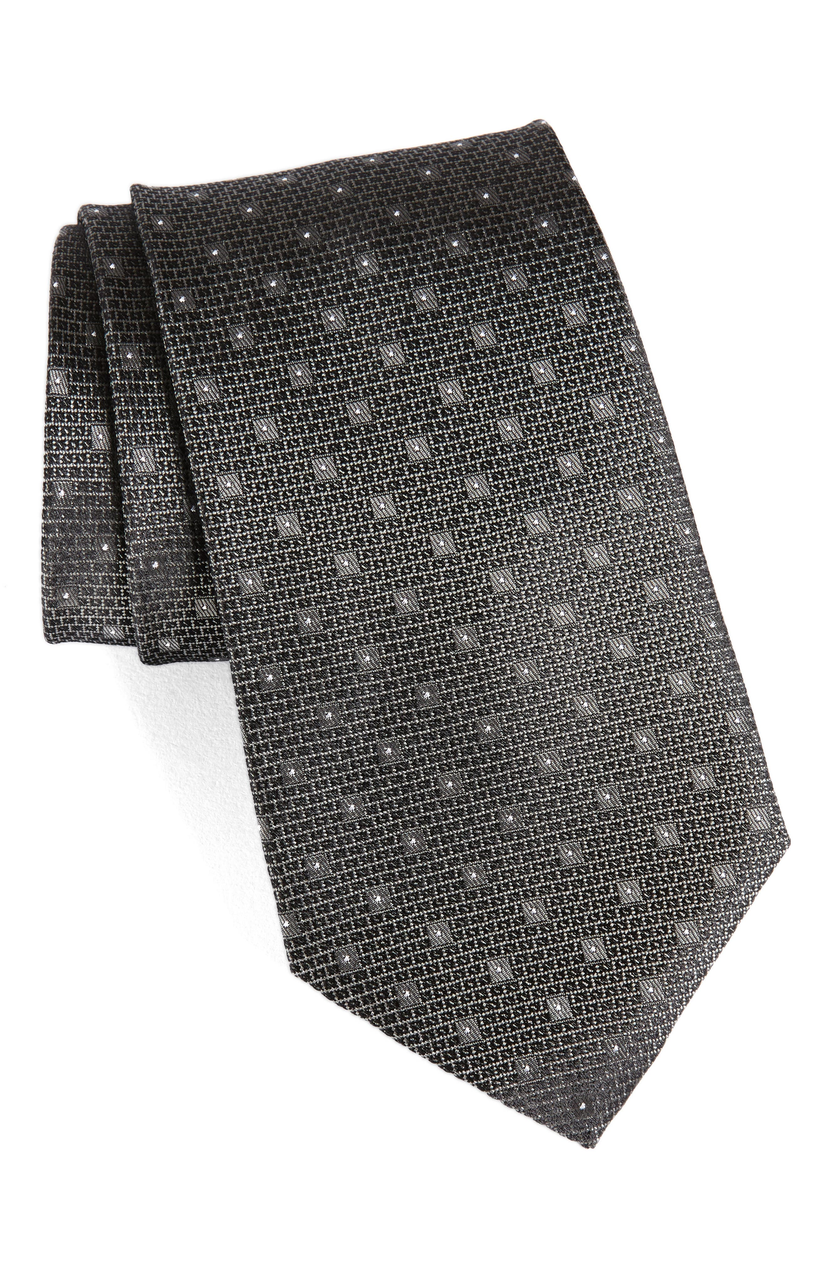 Dot Silk Tie,                         Main,                         color, 061