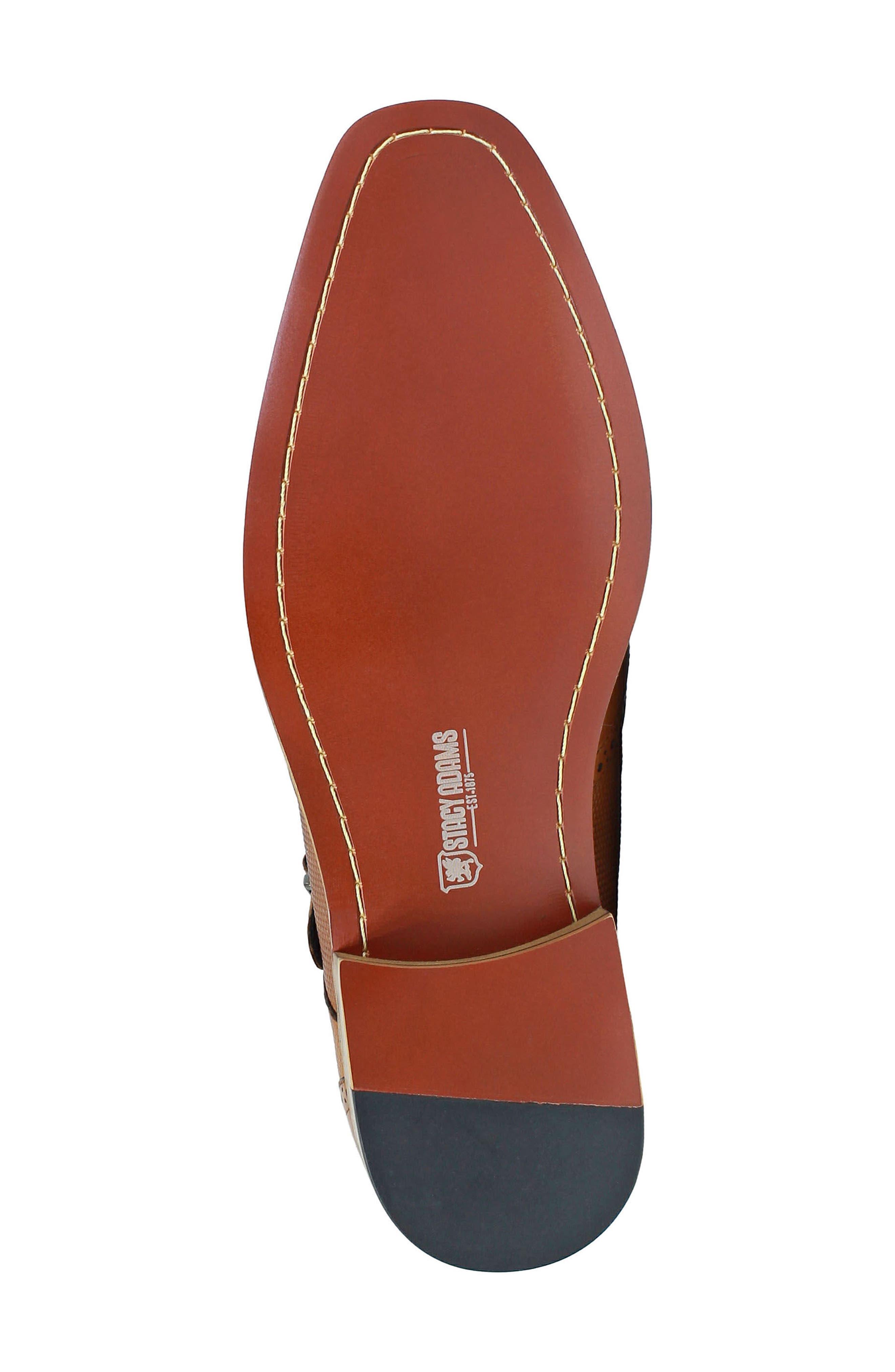Lavine Wingtip Monk Shoe,                             Alternate thumbnail 6, color,                             SADDLE TAN LEATHER