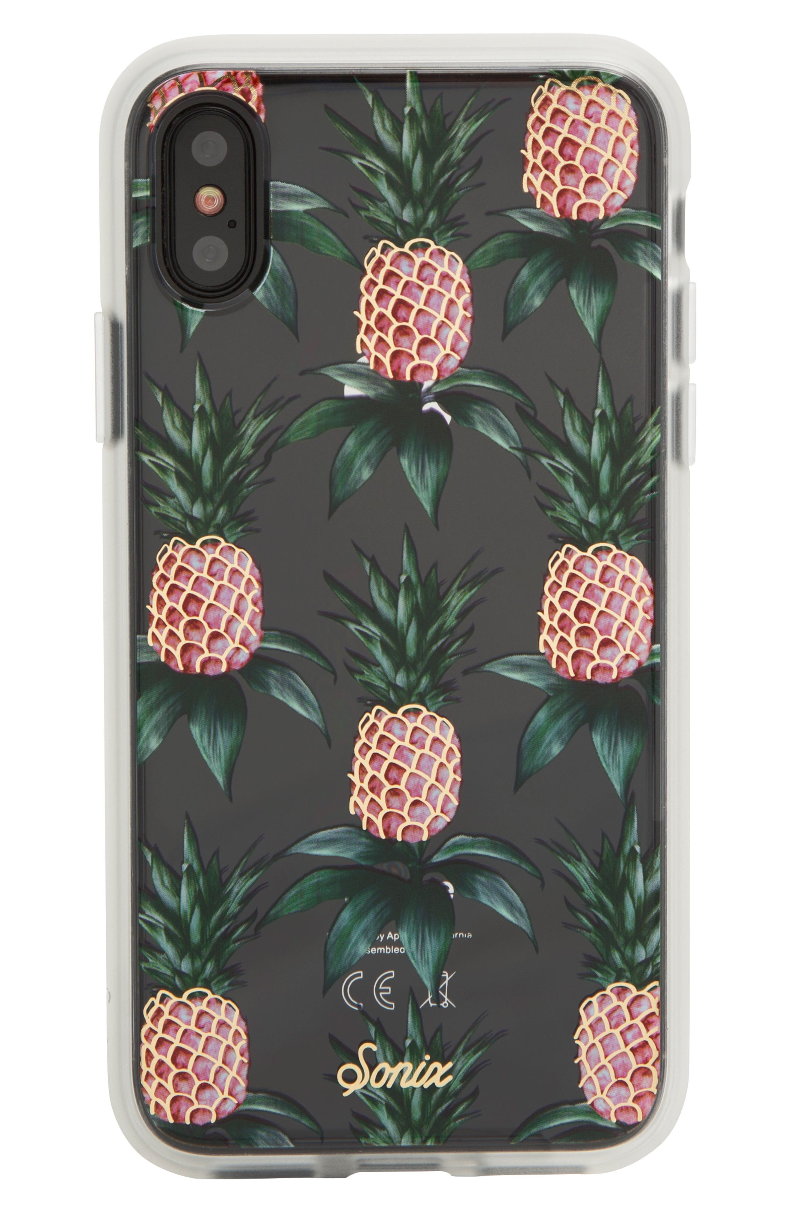 Pink Pineapple iPhone X/Xs, XR & X Max Case,                         Main,                         color, GREEN