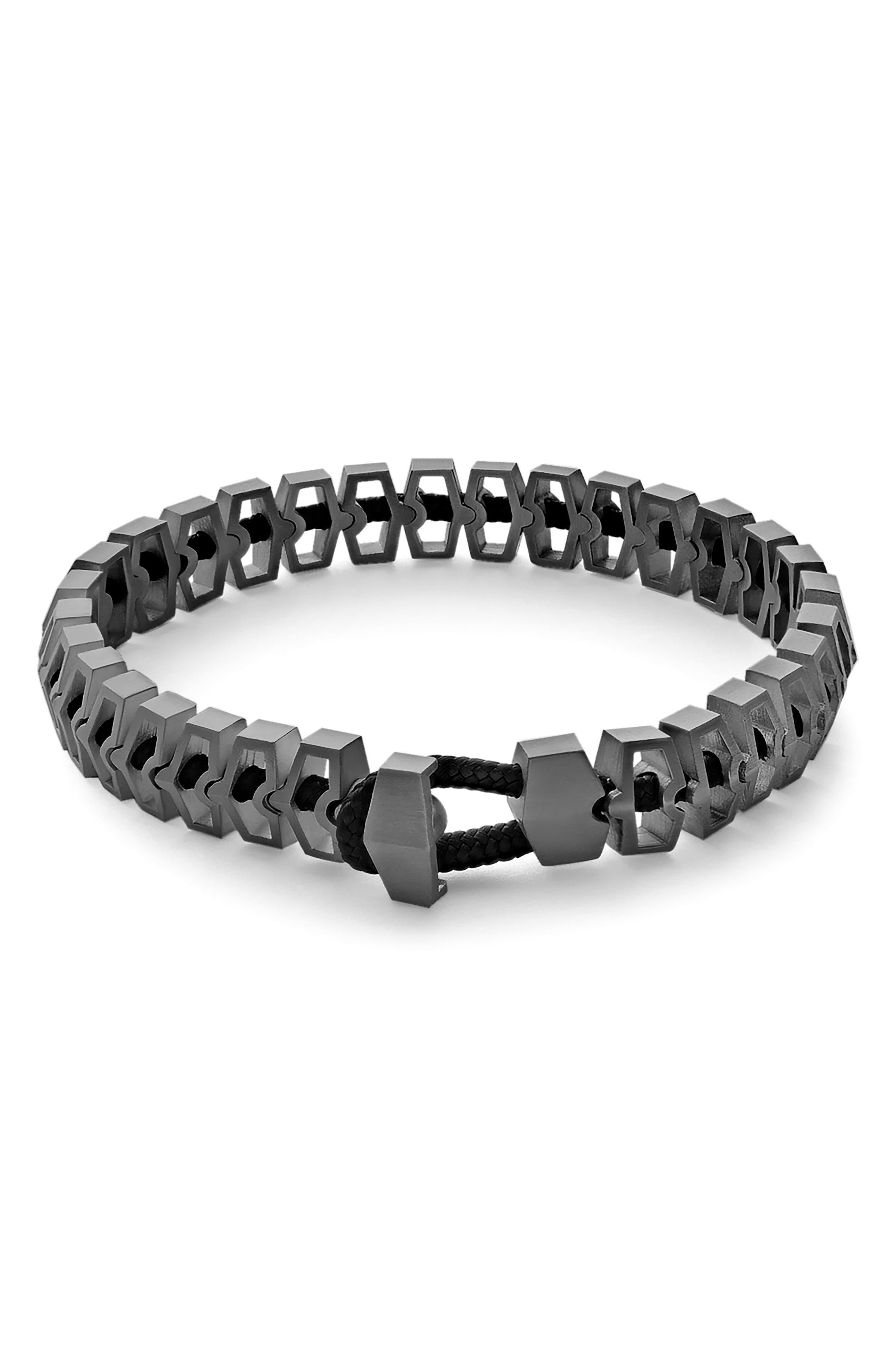 Harbour Bracelet,                             Main thumbnail 1, color,                             SOLID BLACK