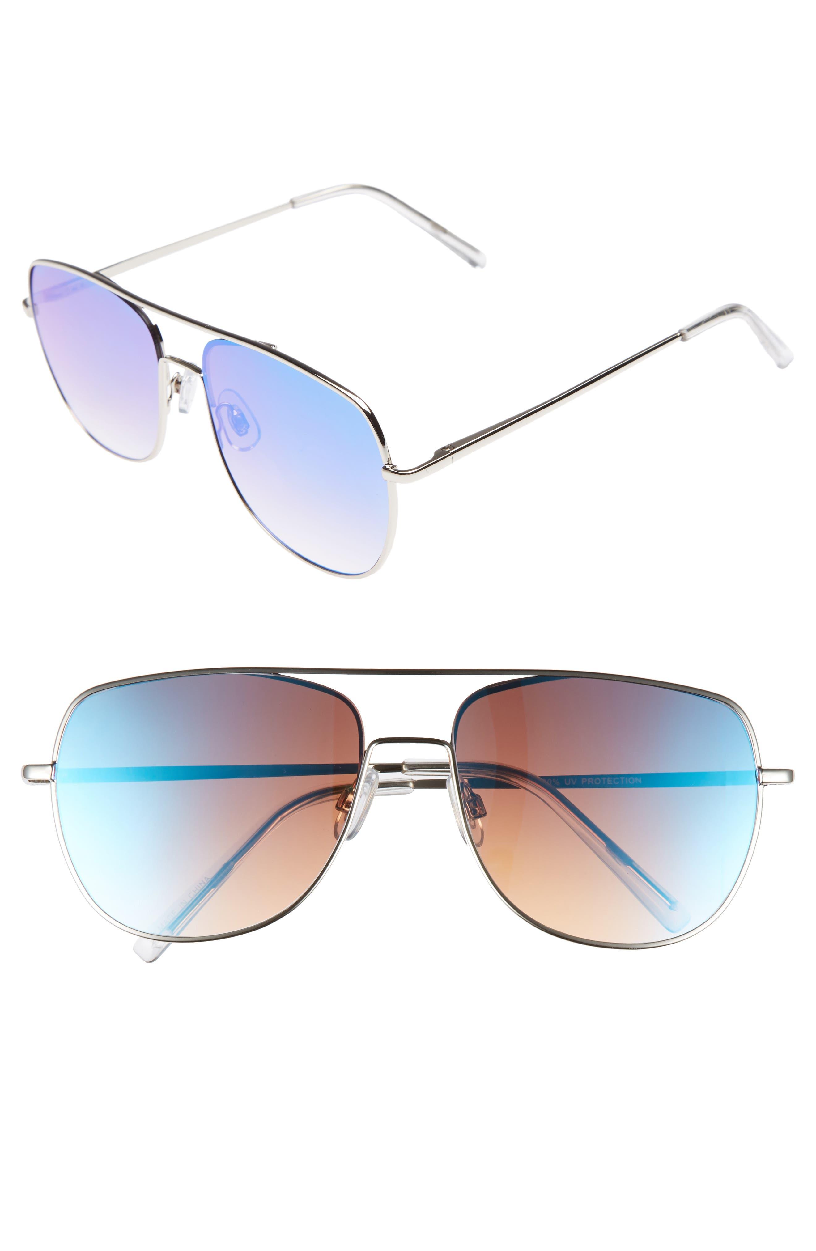 58mm Aviator Sunglasses,                             Main thumbnail 1, color,                             040