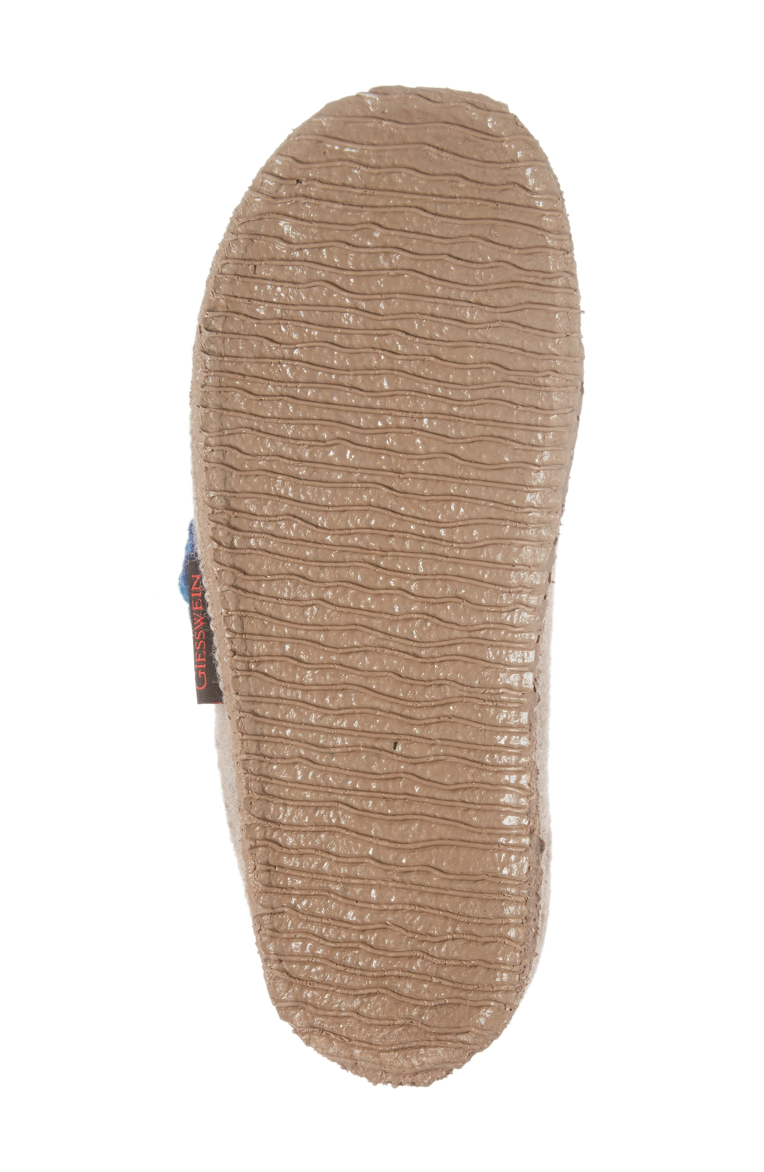 Georgie Indoor Boiled Wool Slipper,                             Alternate thumbnail 6, color,                             NATURAL WOOL