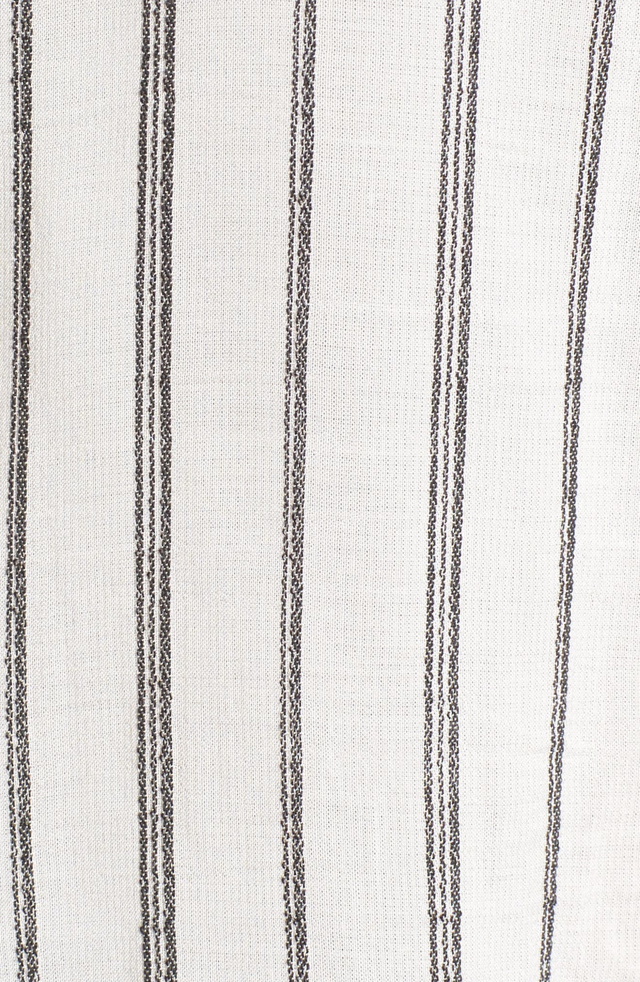Woven Stripe Top,                             Alternate thumbnail 5, color,                             110