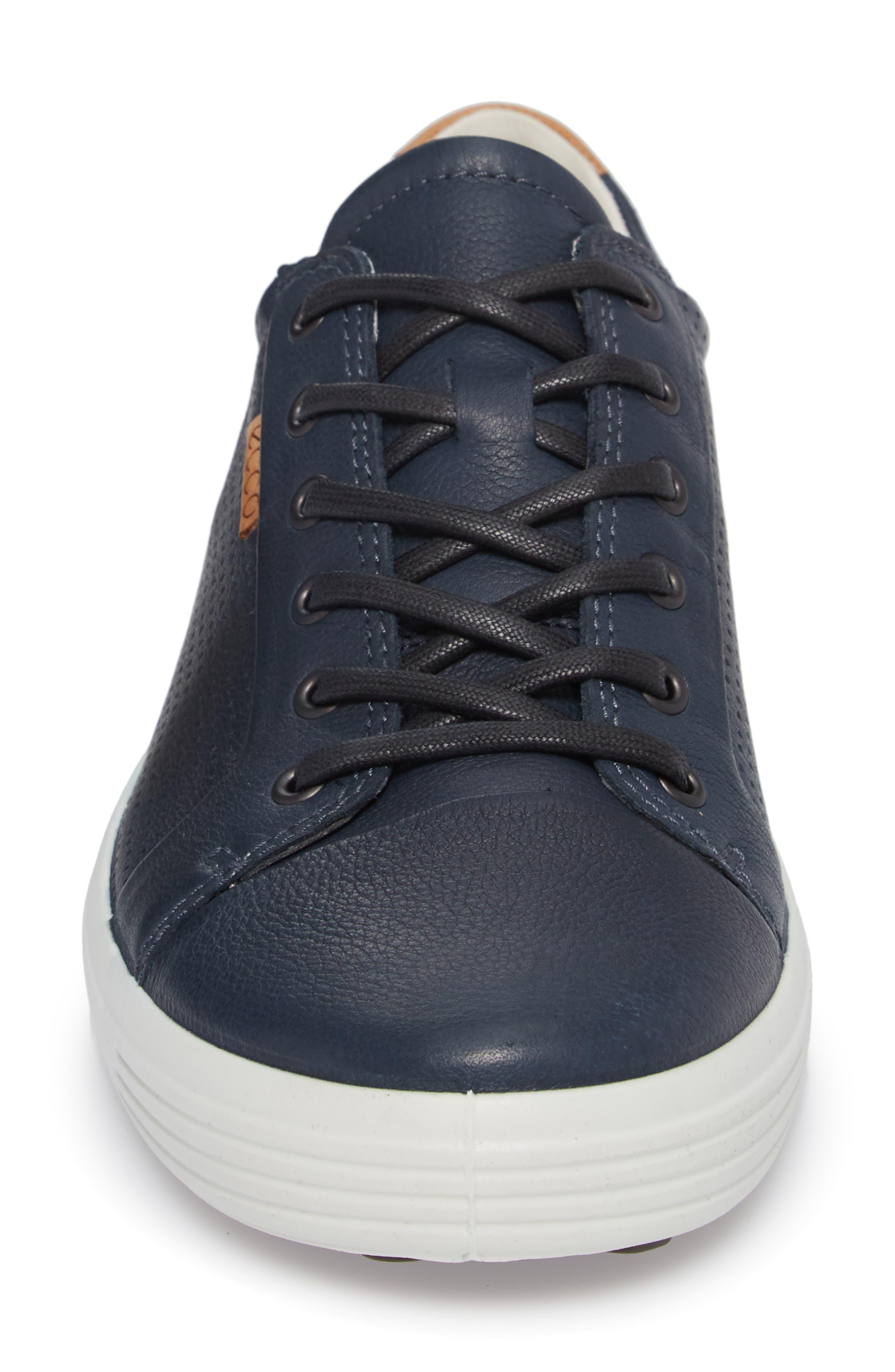 'Soft 7' Sneaker,                             Alternate thumbnail 4, color,                             NAVY LEATHER