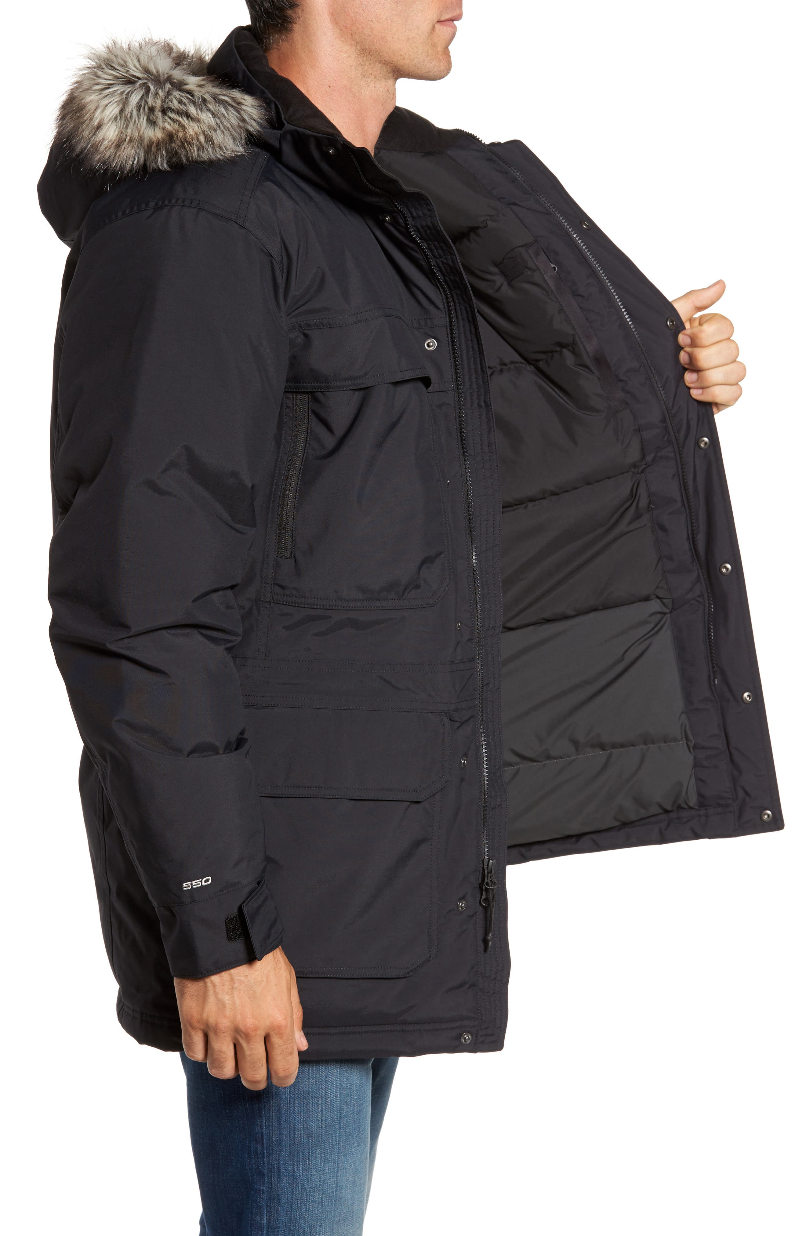 THE NORTH FACE,                             McMurdo III Waterproof Parka,                             Alternate thumbnail 3, color,                             001
