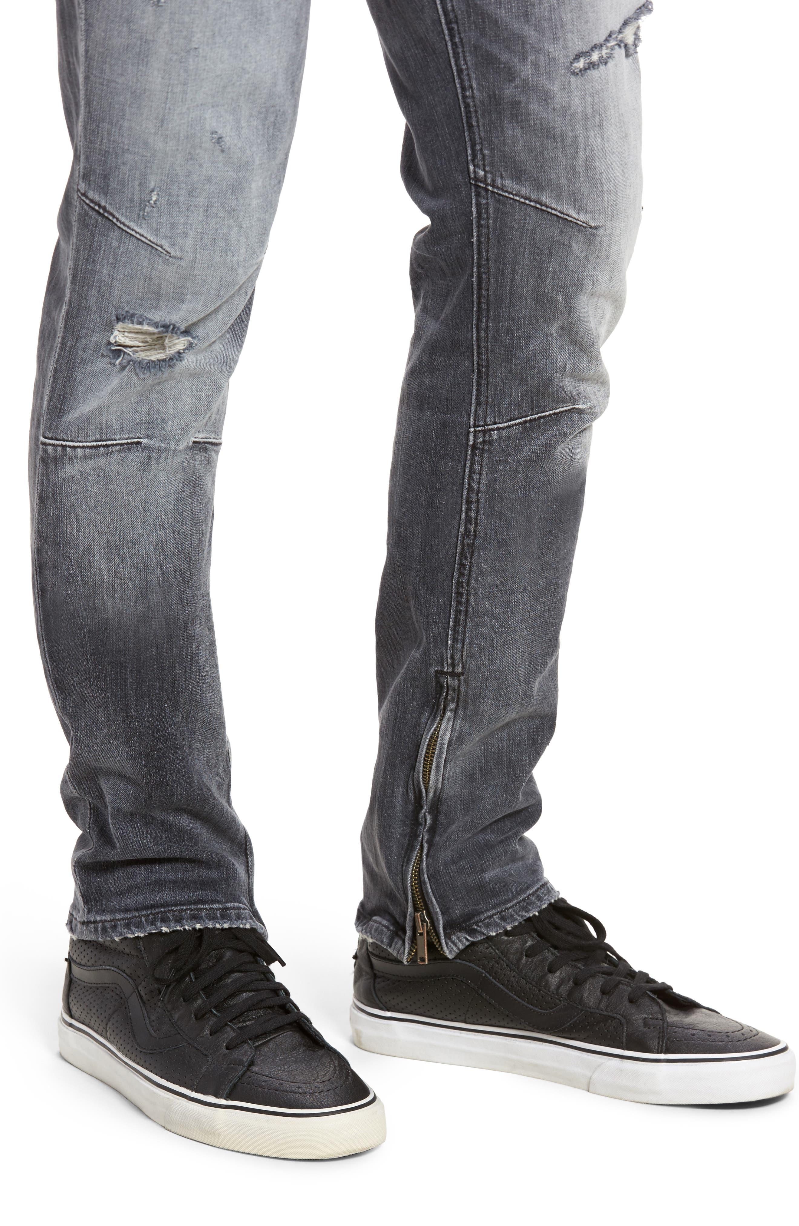 Vaughn Skinny Fit Jeans,                             Alternate thumbnail 4, color,                             VIOLATE