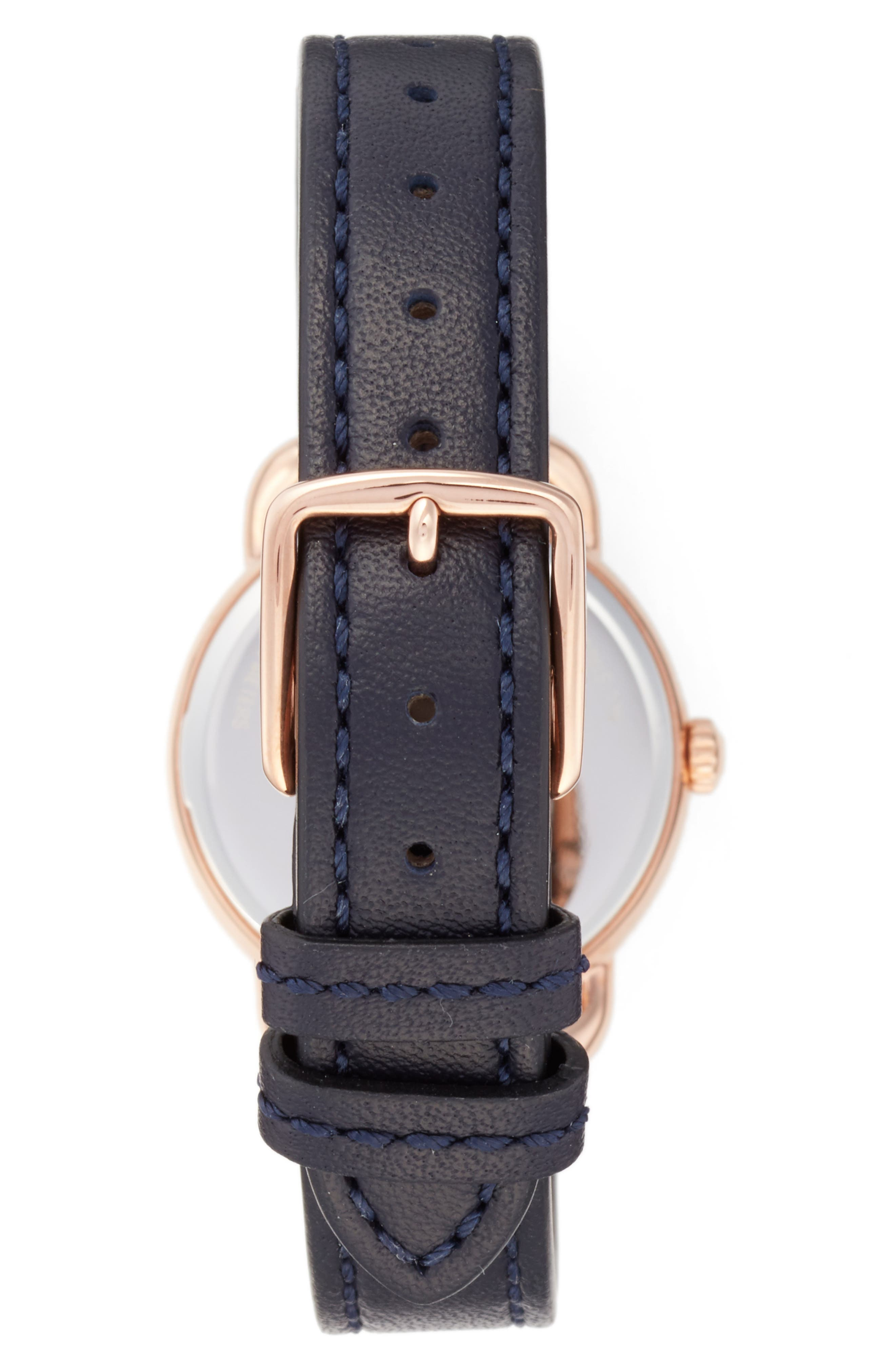 Delancey Leather Strap Watch, 28mm,                             Alternate thumbnail 5, color,