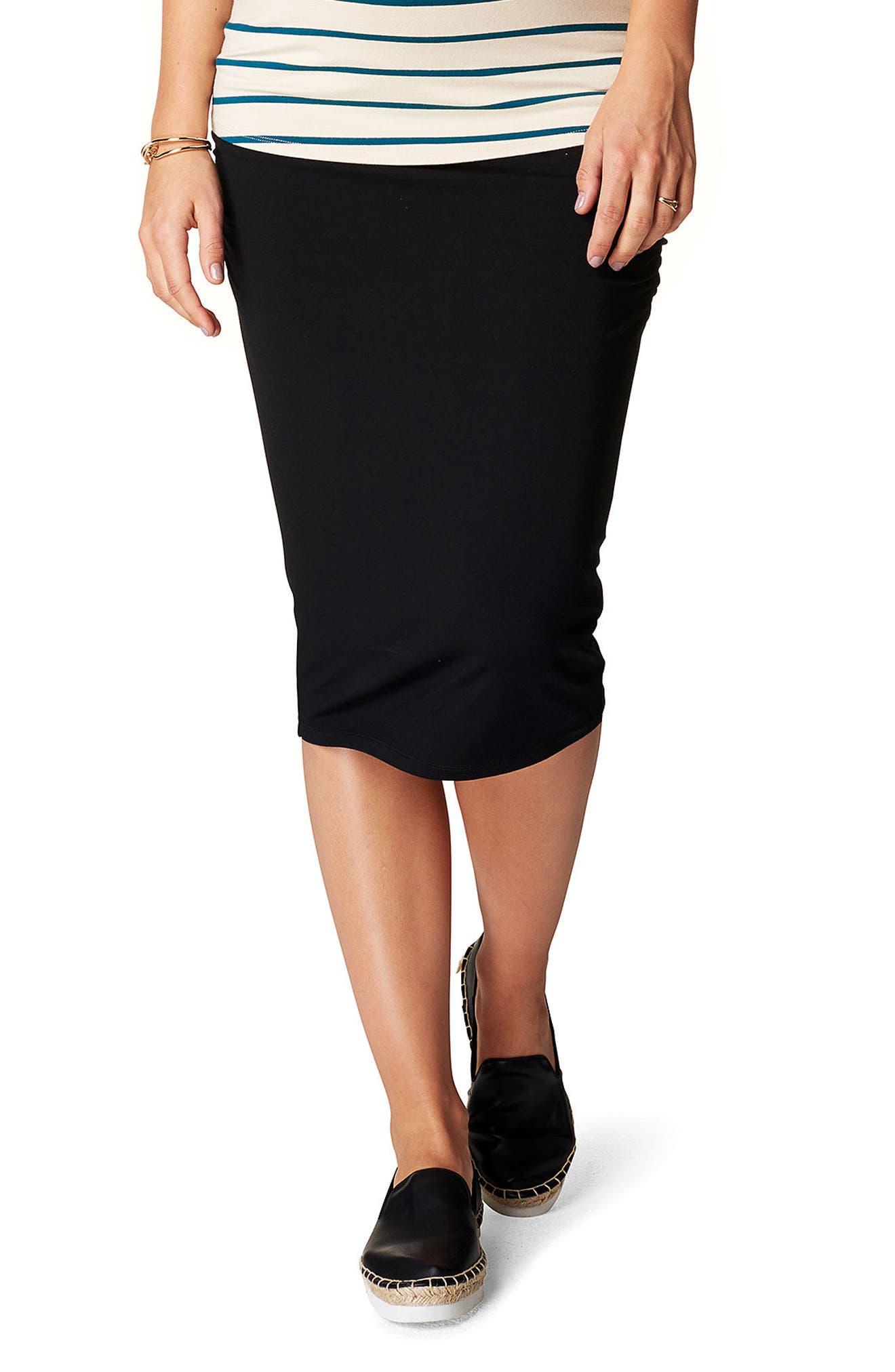 Vida Maternity Skirt,                         Main,                         color, BLACK