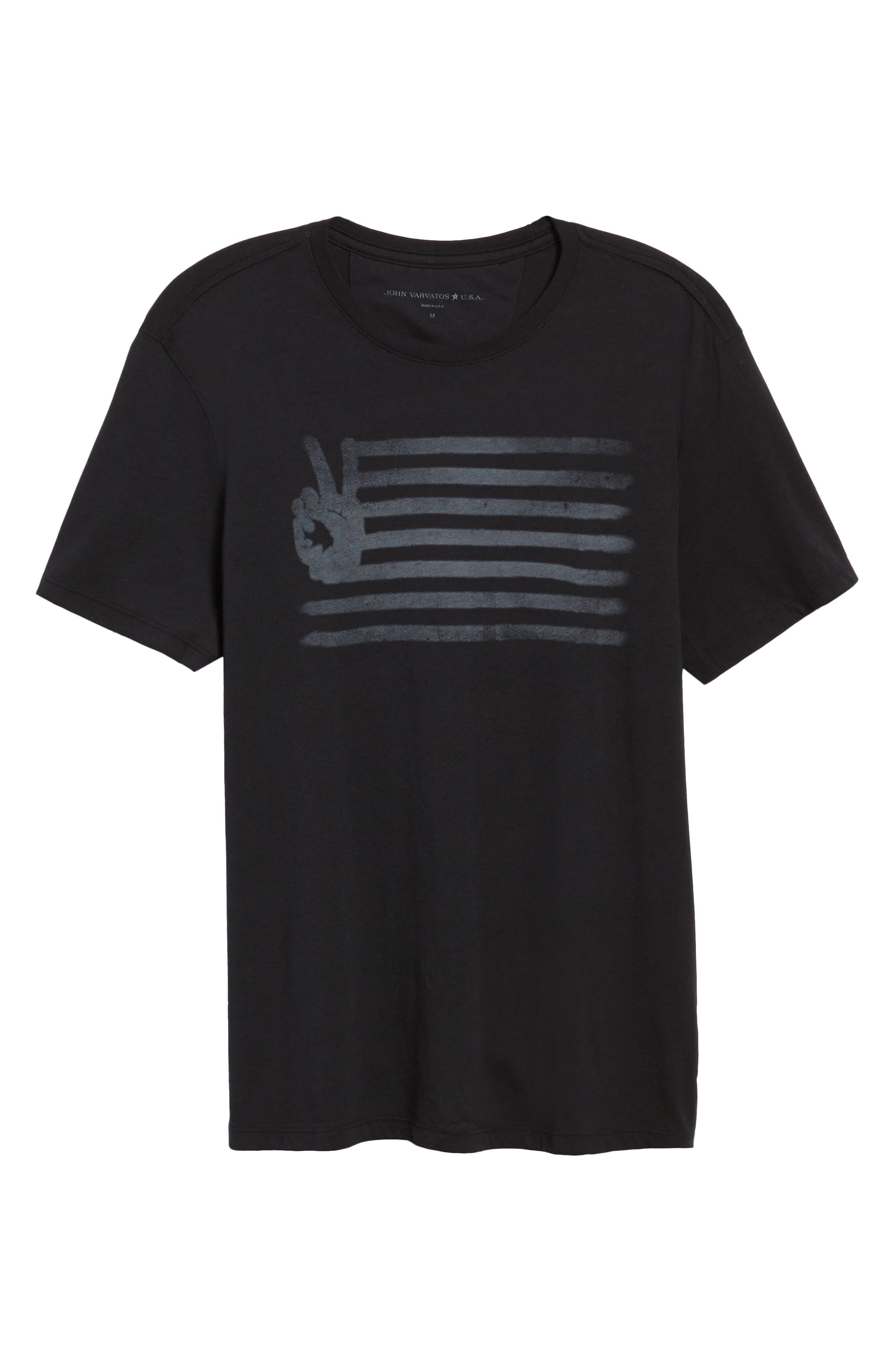 'Peace Flag' Graphic T-Shirt,                             Alternate thumbnail 2, color,                             001