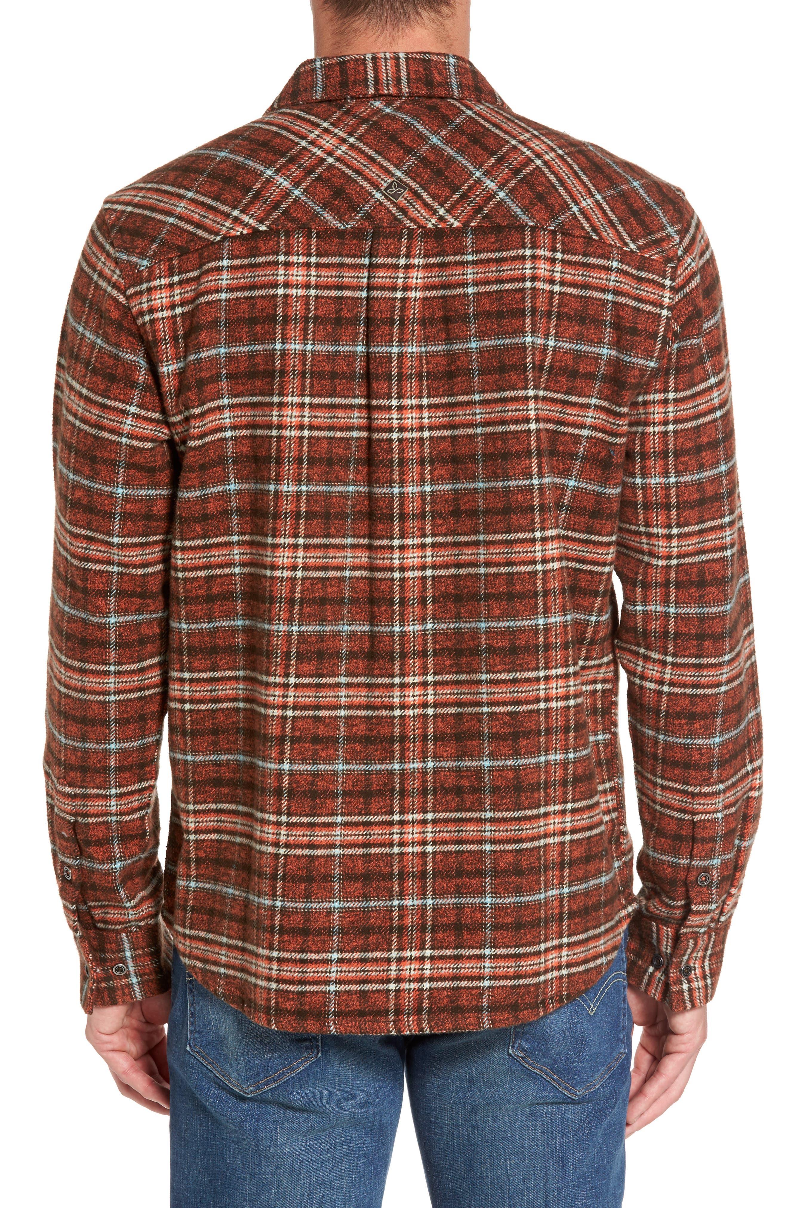 Brayden Regular Fit Plaid Flannel Shirt,                             Alternate thumbnail 4, color,