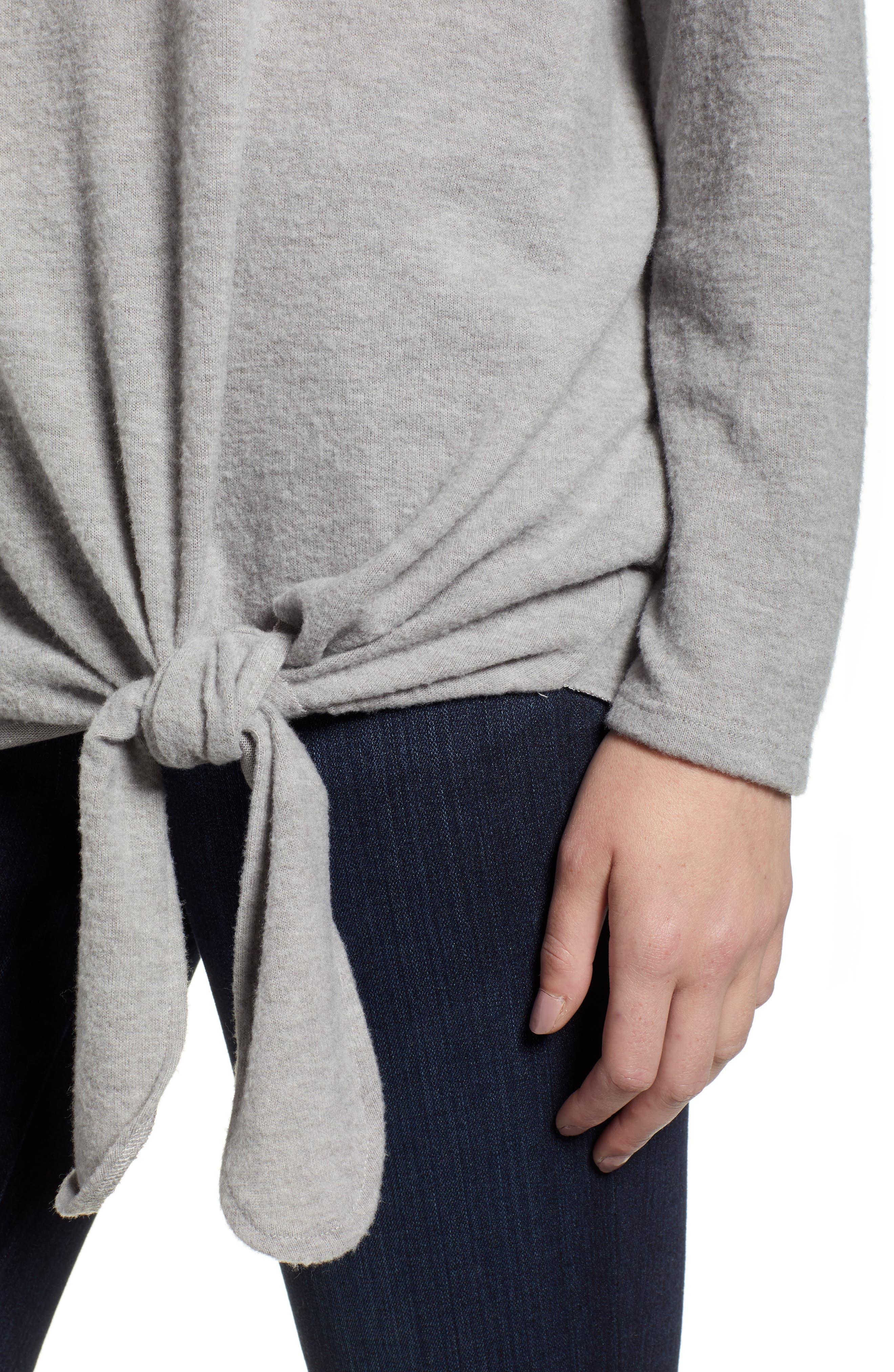 CASLON<SUP>®</SUP>,                             Tie Front Sweatshirt,                             Alternate thumbnail 4, color,                             030