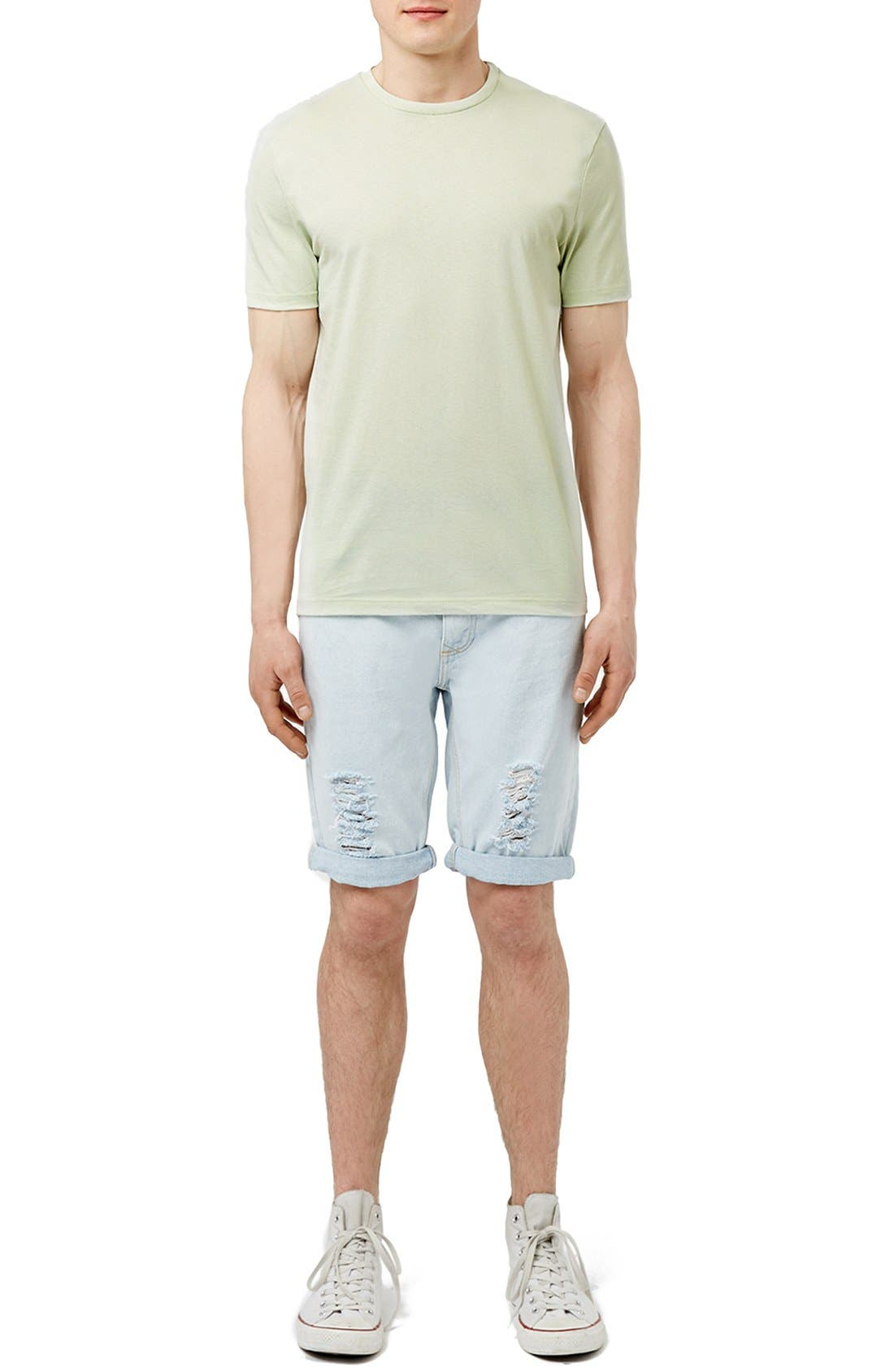 Slim Fit Crewneck T-Shirt,                             Alternate thumbnail 244, color,