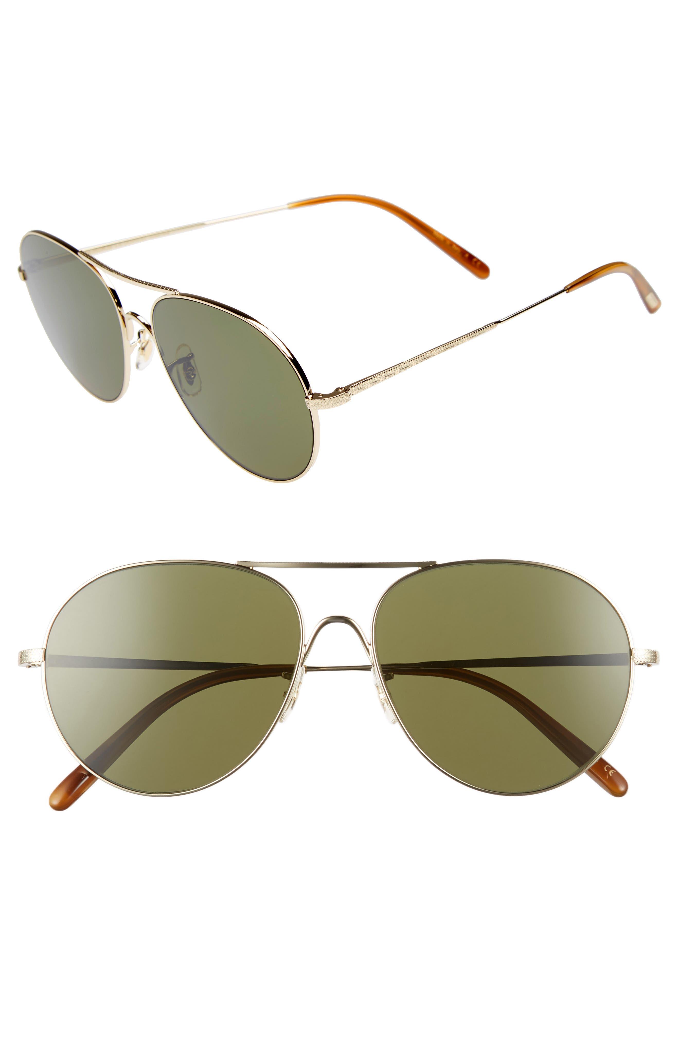 Rockmore 58mm Aviator Sunglasses,                         Main,                         color, GOLD