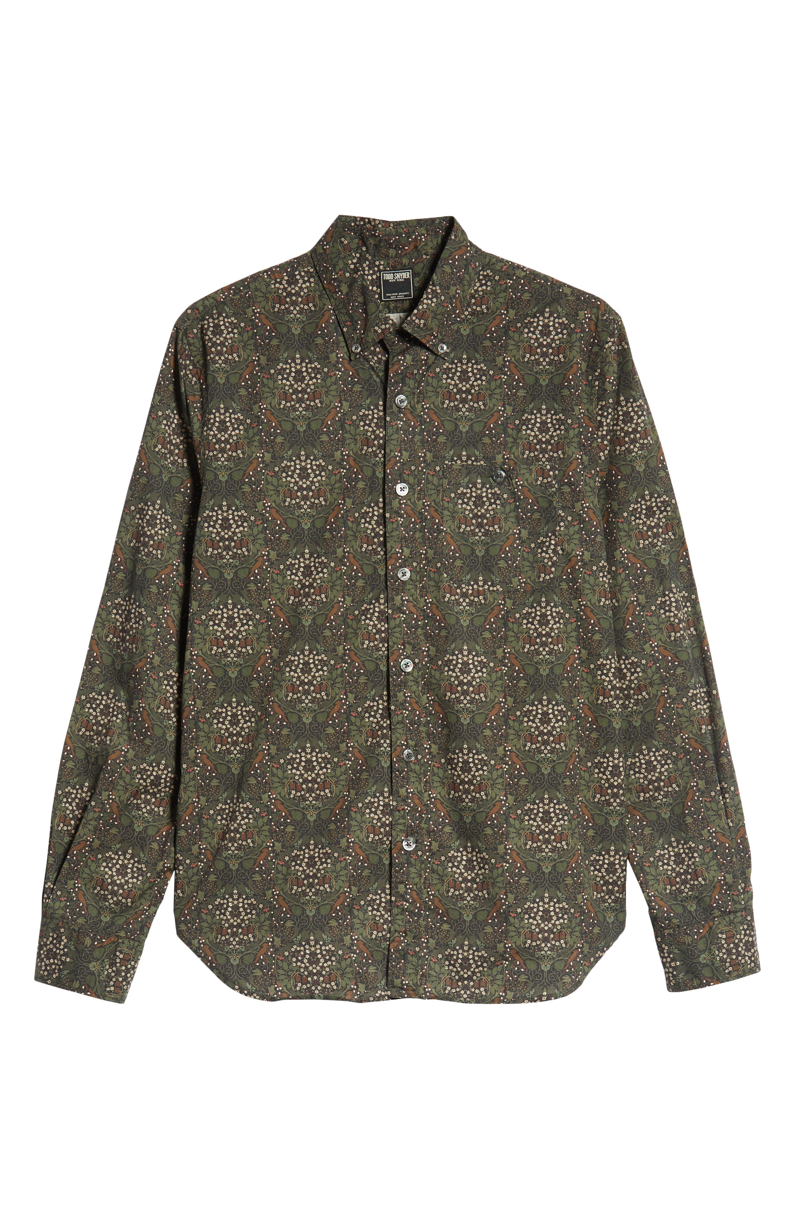 Classic Fit Thomas Mason Floral Sport Shirt,                             Alternate thumbnail 5, color,                             340