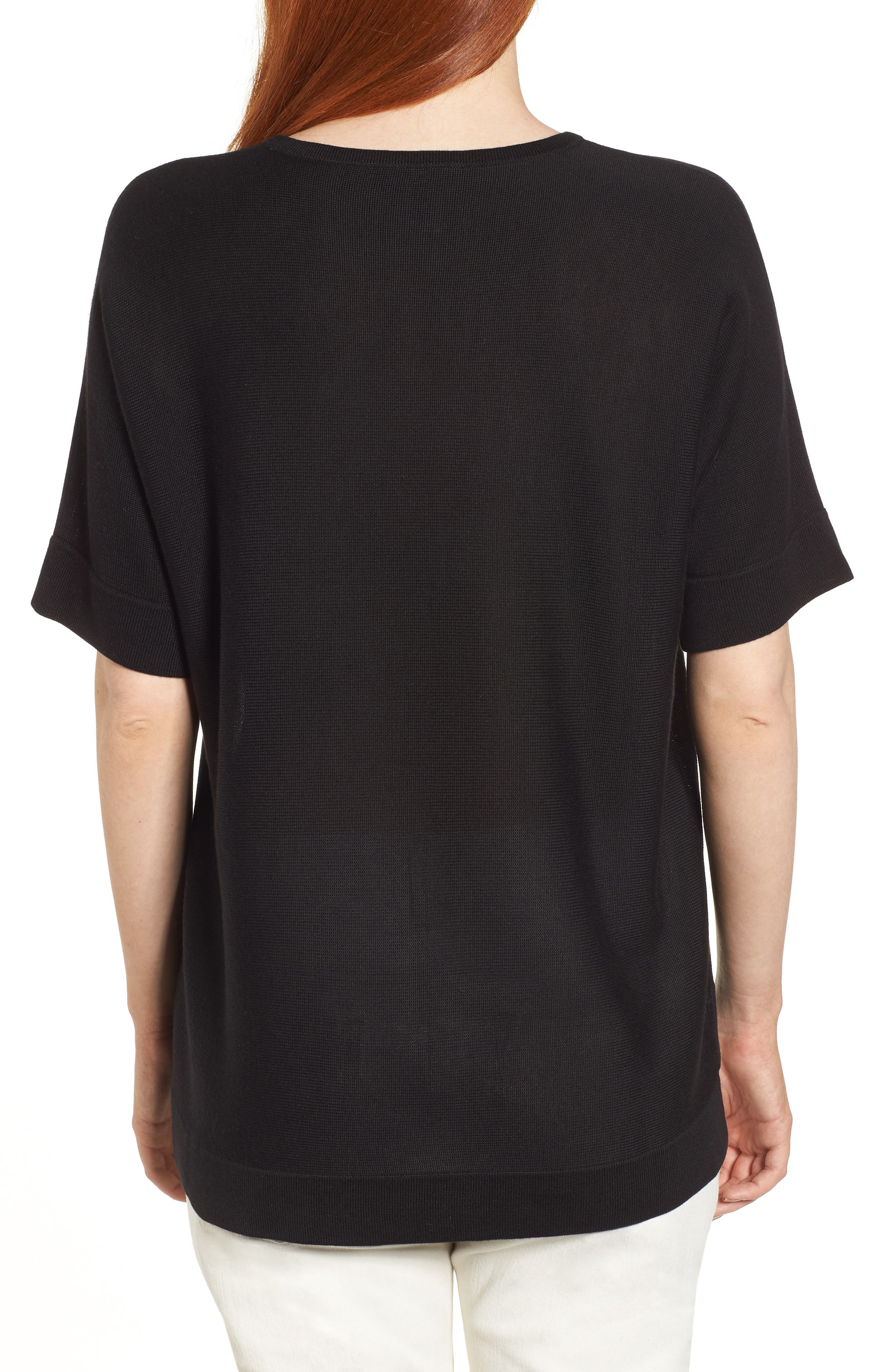 Round Neck Top,                             Alternate thumbnail 2, color,                             001