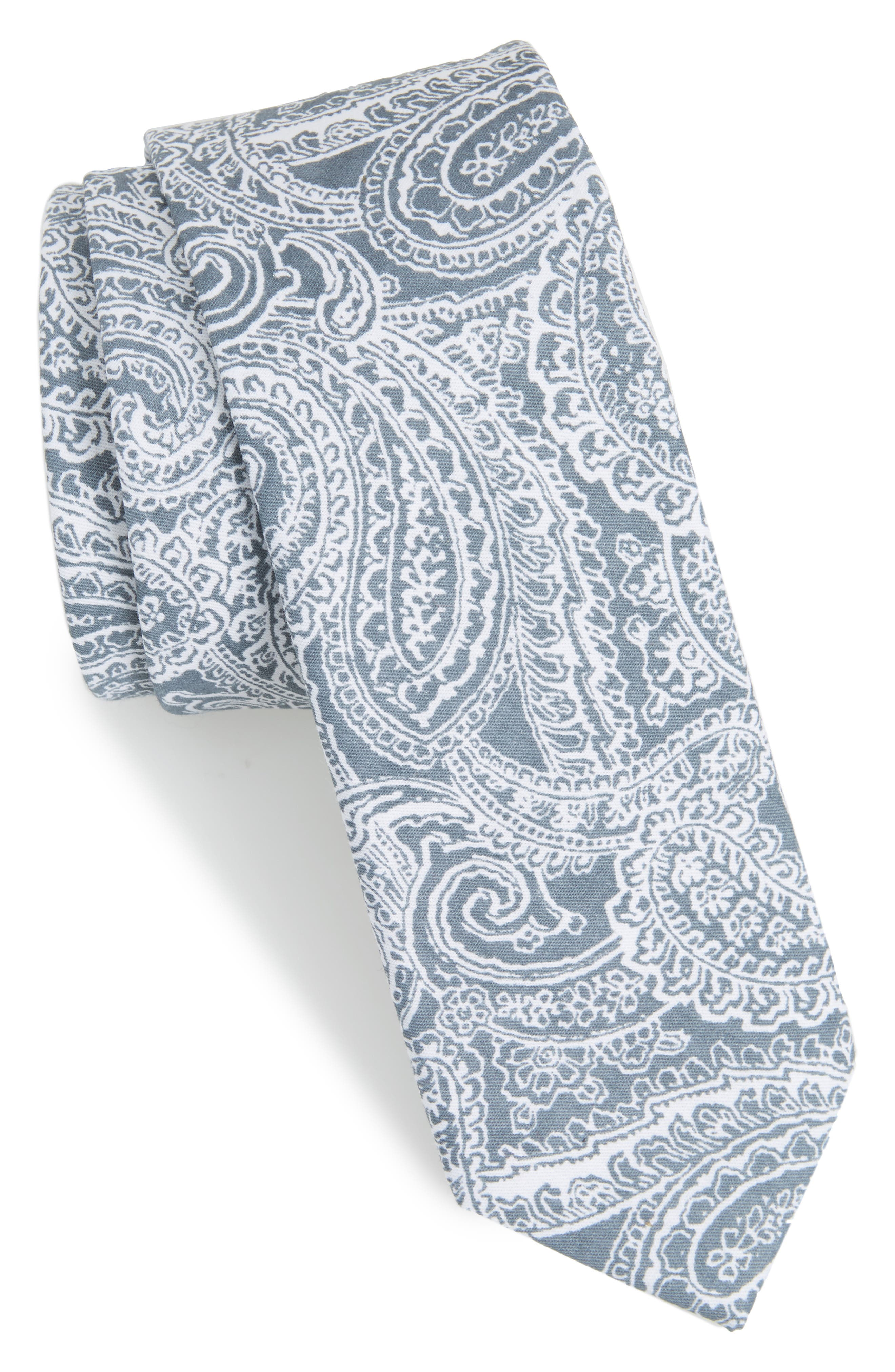 Lee Paisley Cotton Tie,                             Main thumbnail 1, color,