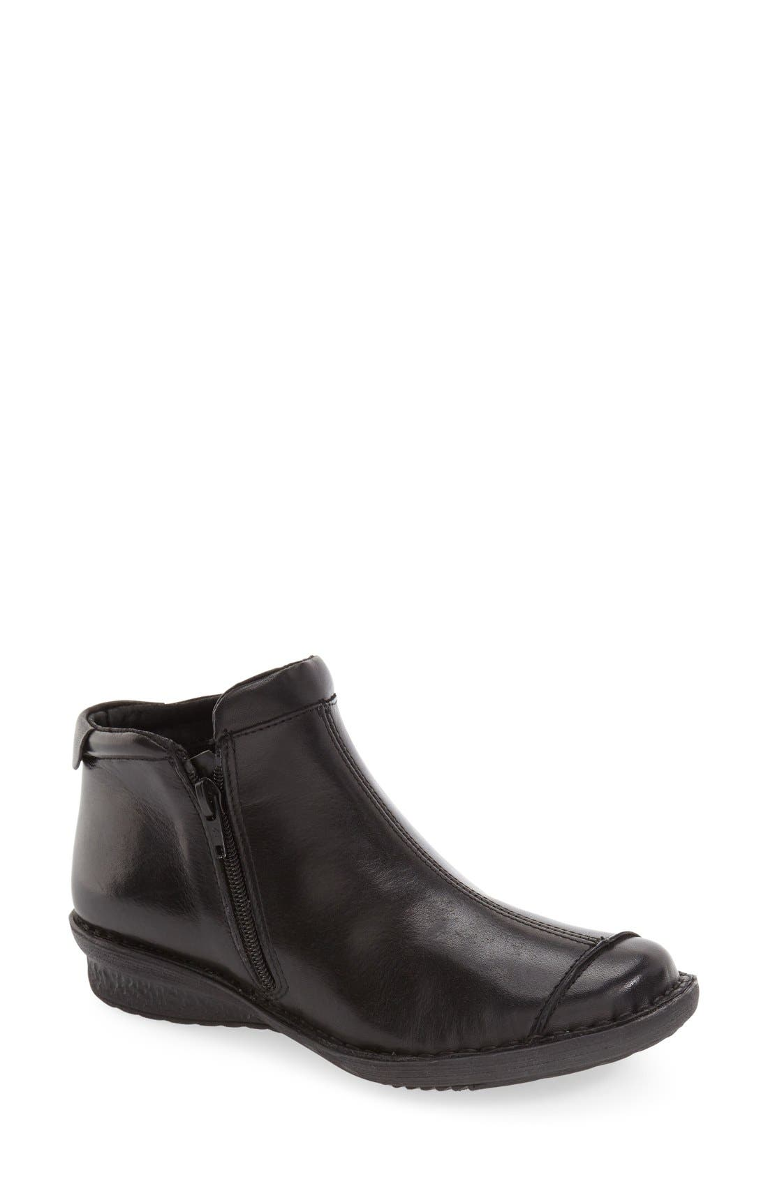 'Euro' Zip Bootie,                         Main,                         color, 001