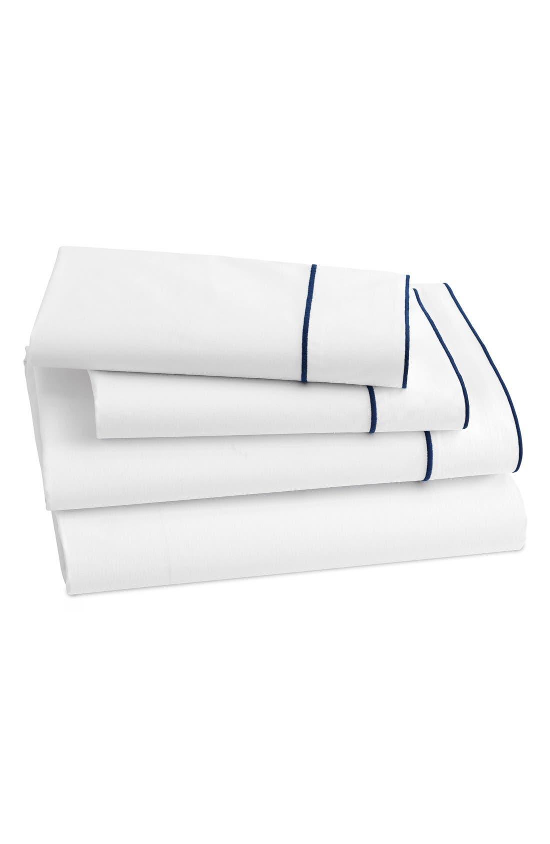 Sorrento 200 Thread Count Flat Sheet,                             Main thumbnail 2, color,
