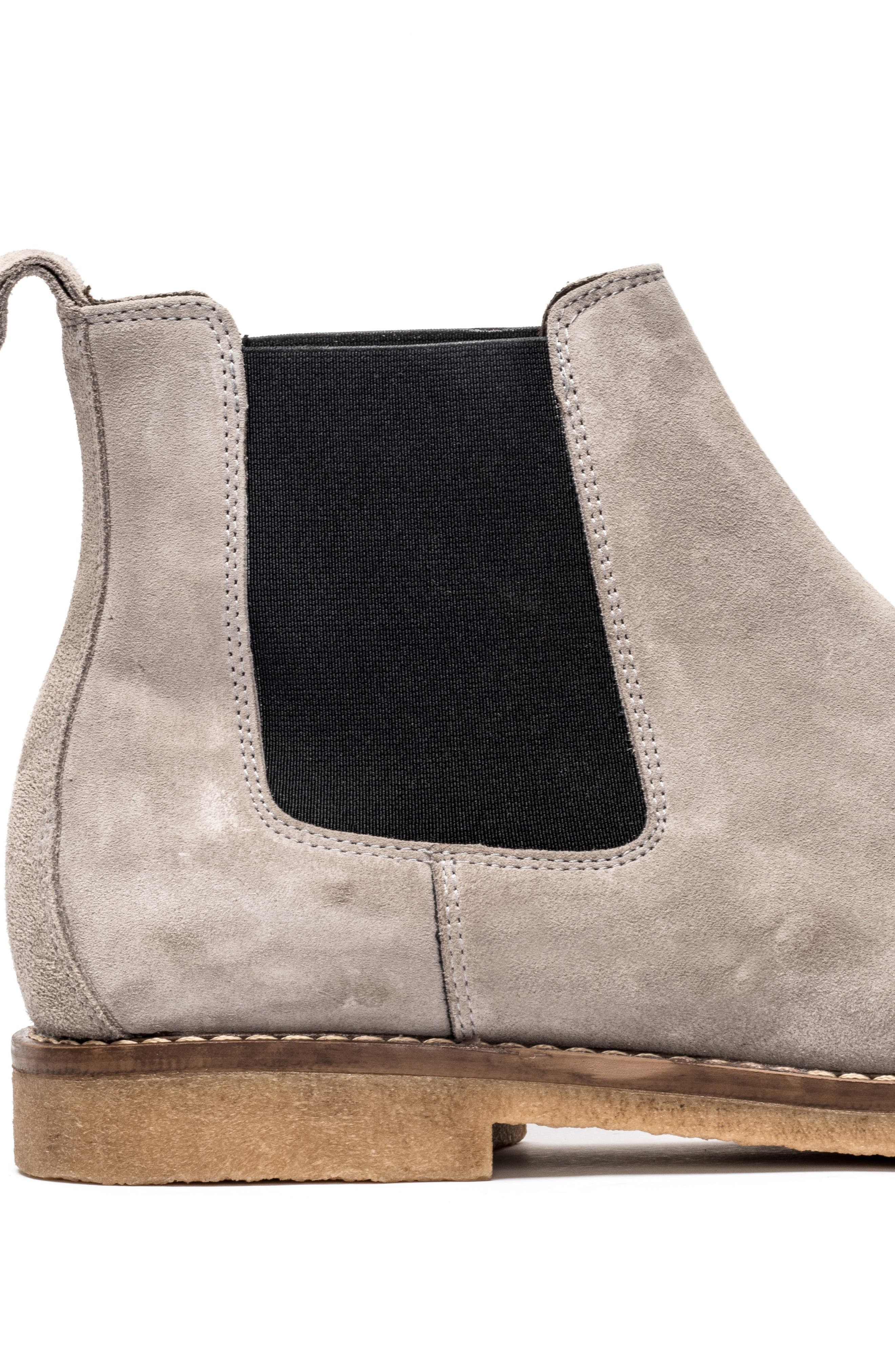 Gertrude Valley Water Repellent Chelsea Boot,                             Alternate thumbnail 6, color,                             STONE