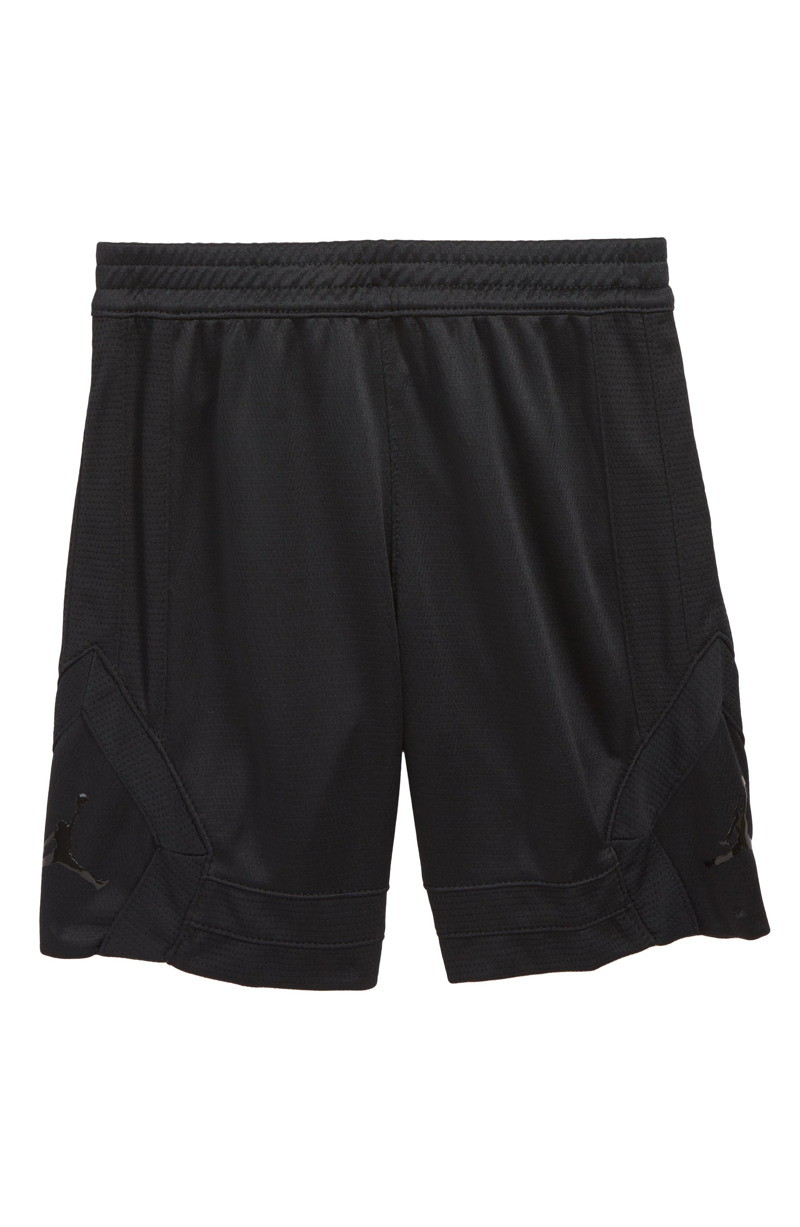 Jordan Rise Basketball Shorts,                             Main thumbnail 1, color,                             BLACK