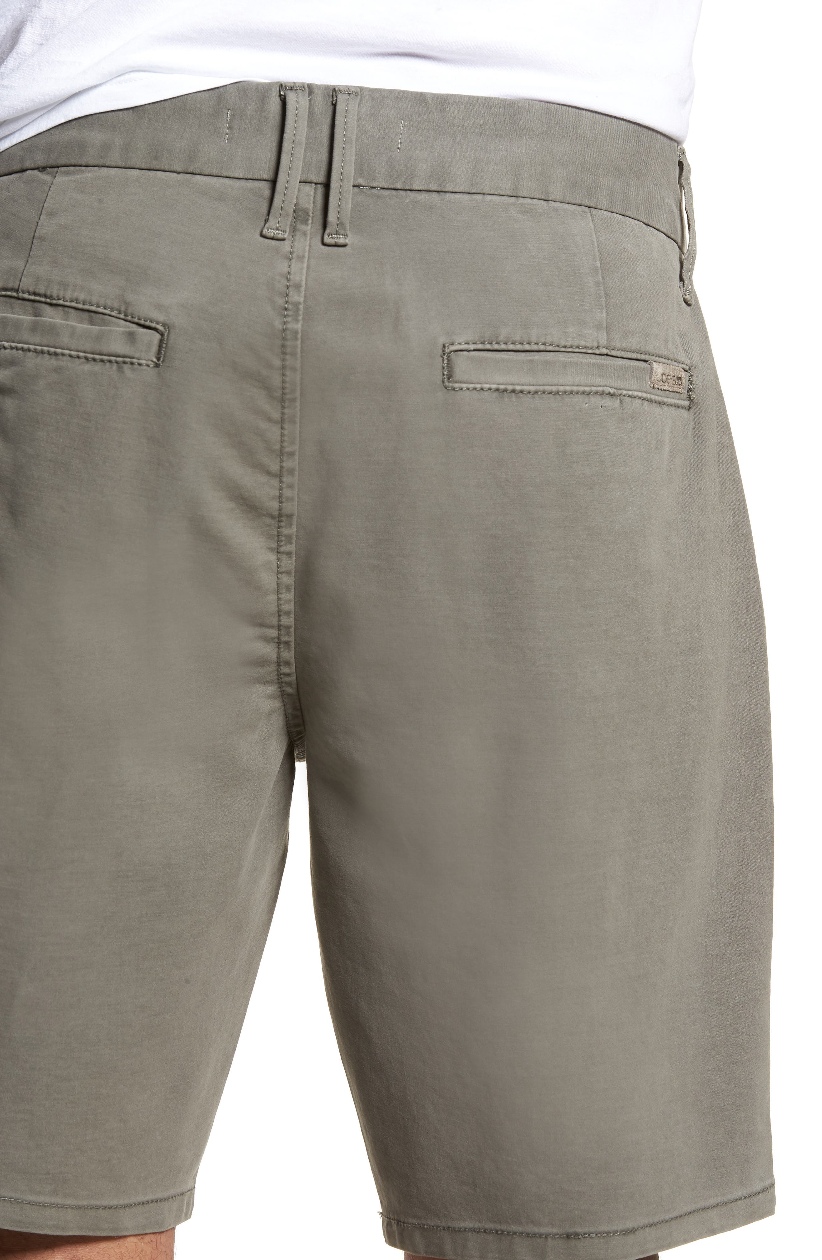Brixton Trim Fit Straight Leg Shorts,                             Alternate thumbnail 4, color,                             020