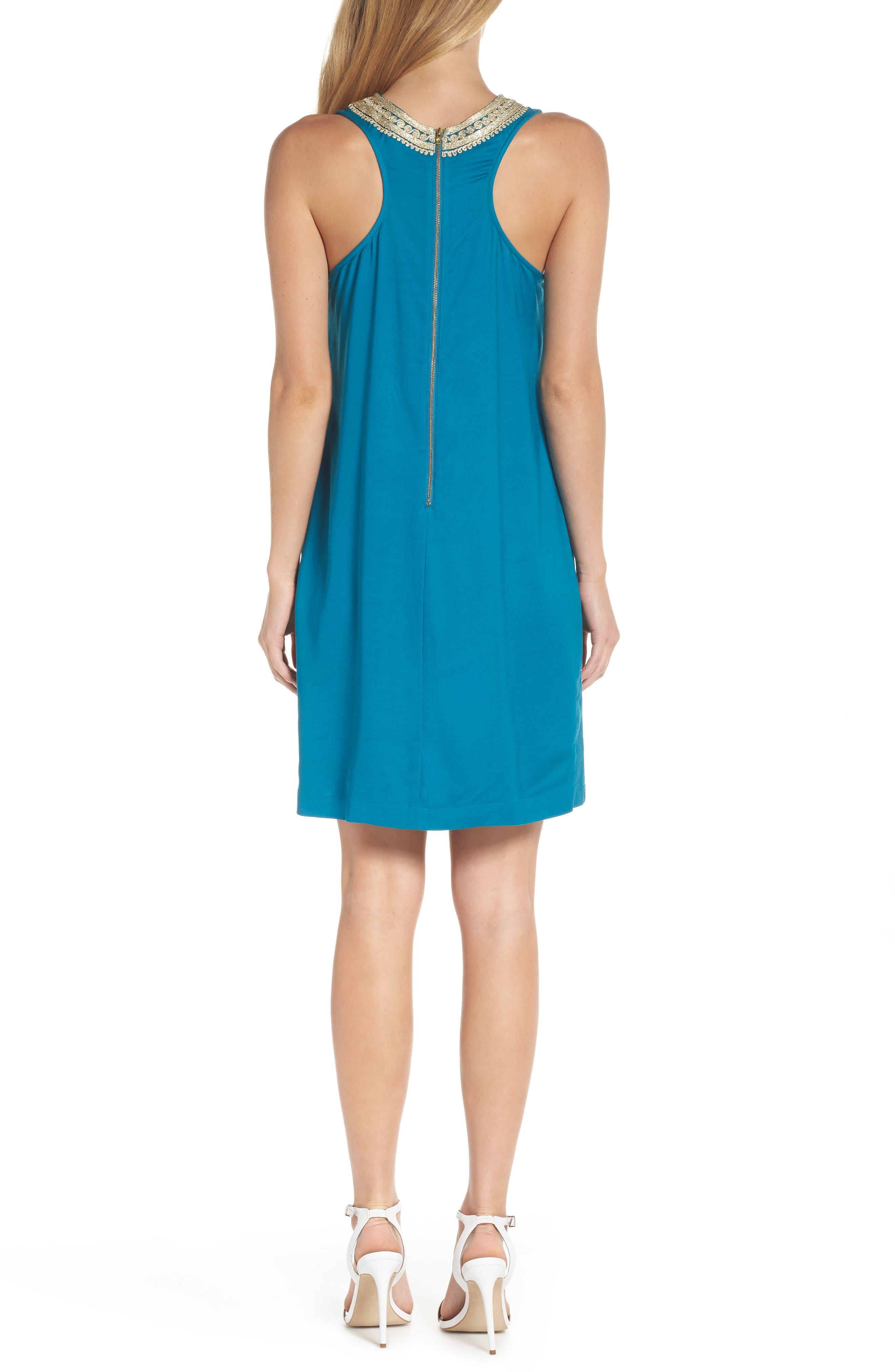 Carlotta Shift Dress,                             Alternate thumbnail 2, color,                             TIDAL WAVE