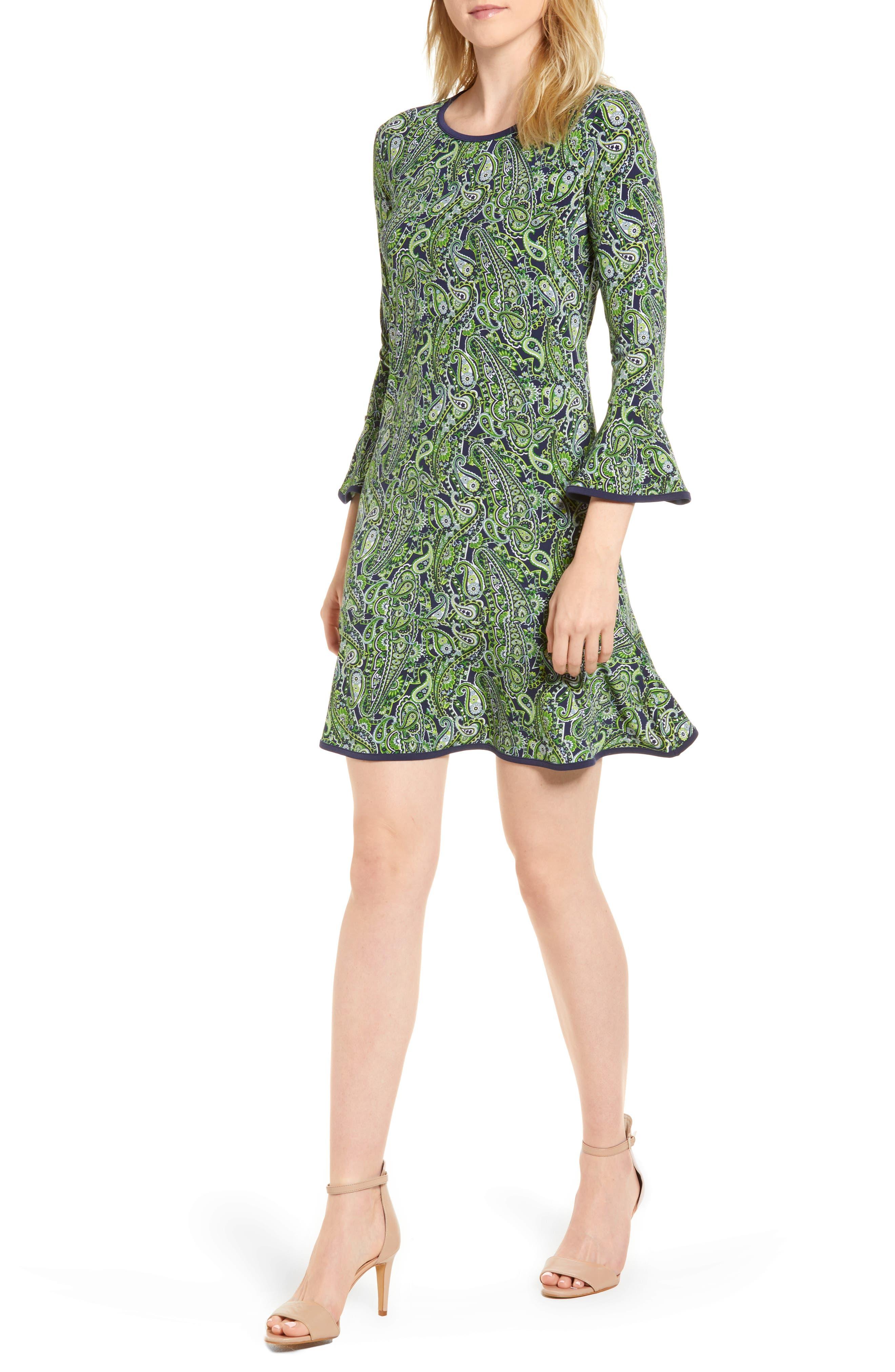 Paisley Flounce Dress,                             Main thumbnail 1, color,                             362