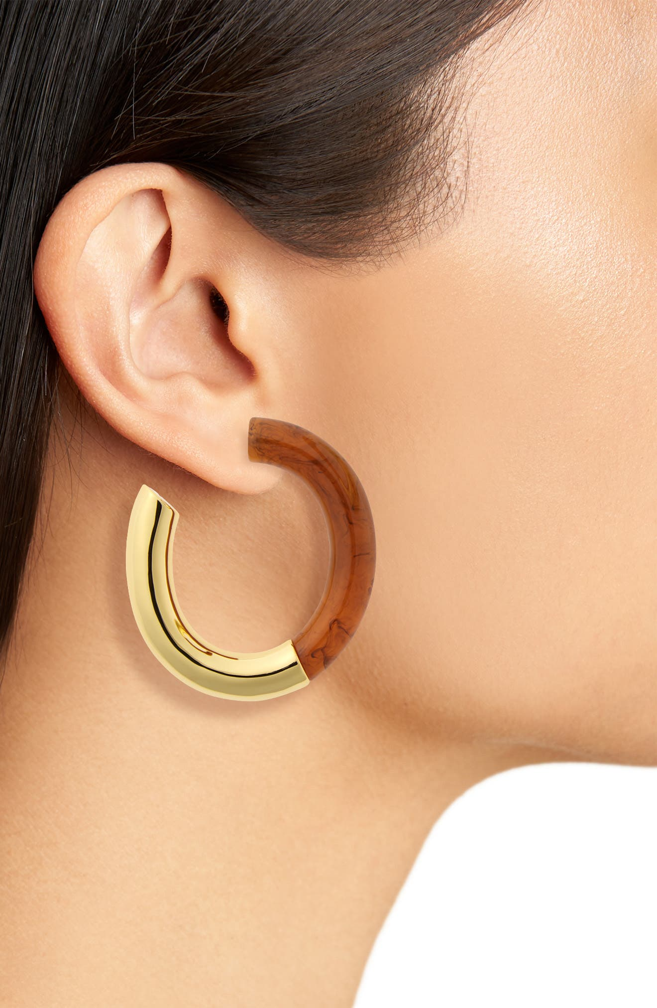 LIZZIE FORTUNATO,                             Summer of Love Hoop Earrings,                             Alternate thumbnail 2, color,                             200
