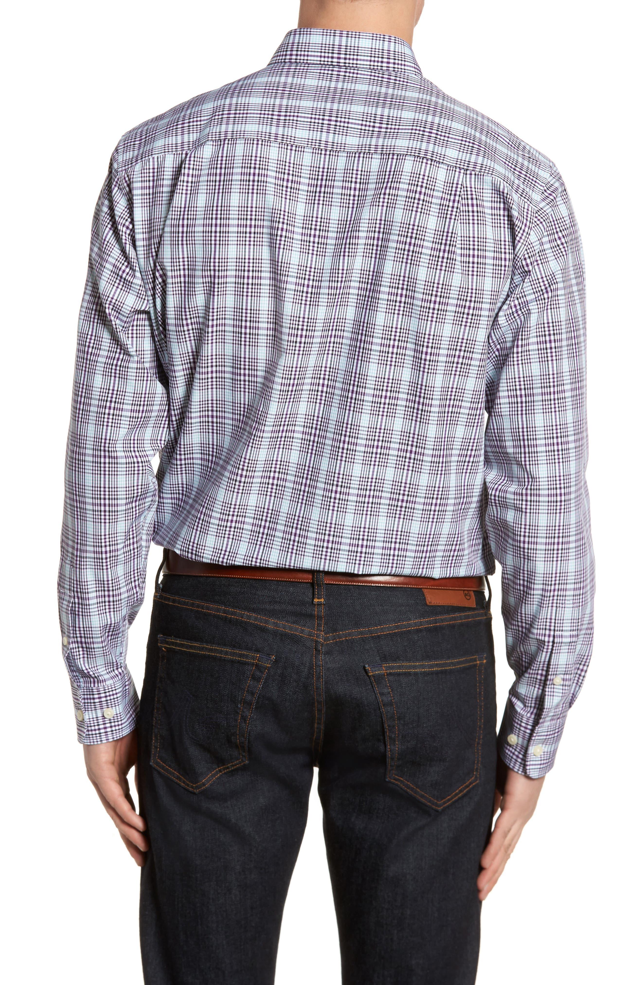 Hoyt Non-Iron Plaid Sport Shirt,                             Alternate thumbnail 2, color,                             522